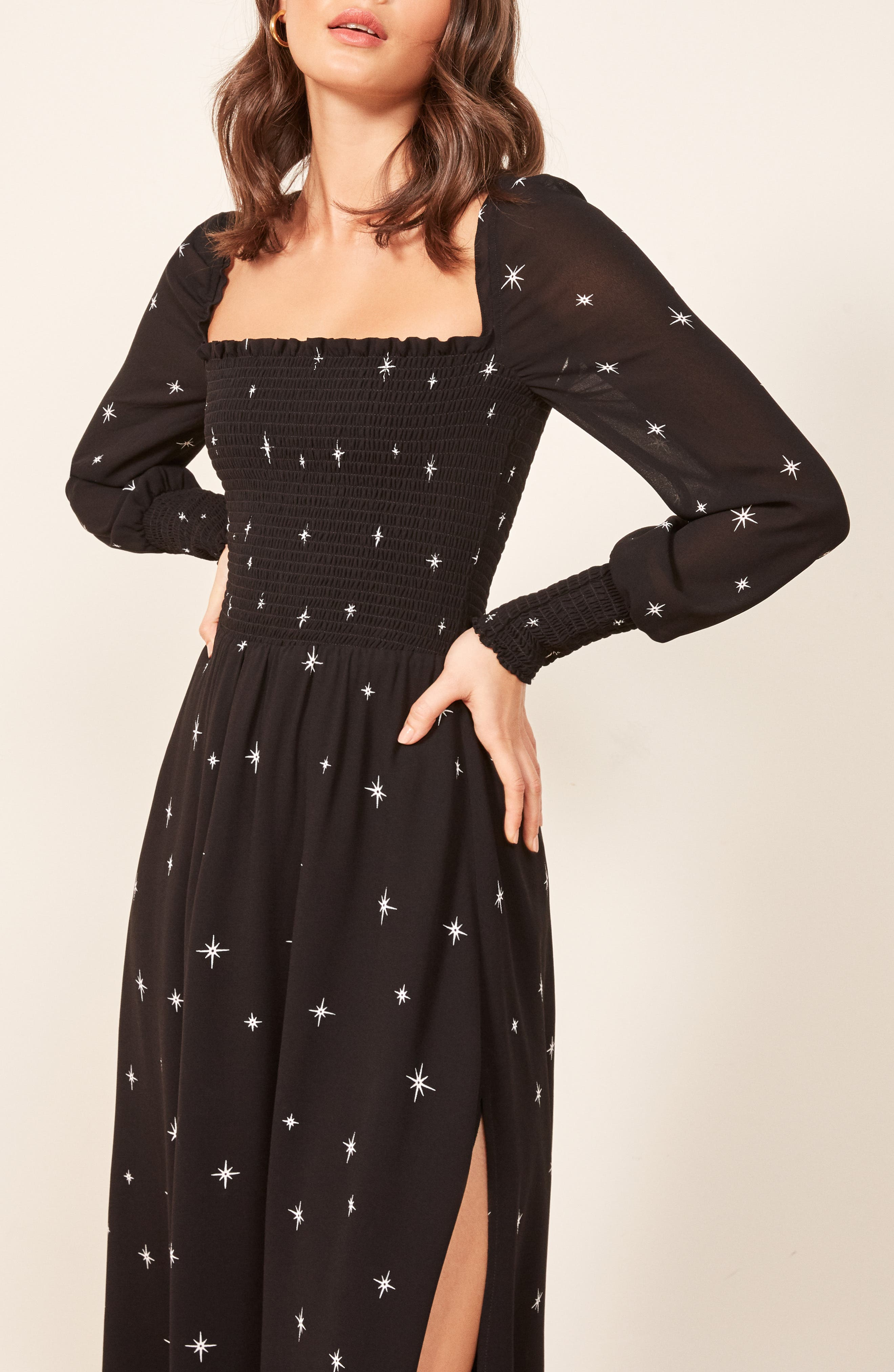 Rowan Midi Dress,                             Alternate thumbnail 4, color,                             CONSTELLATION