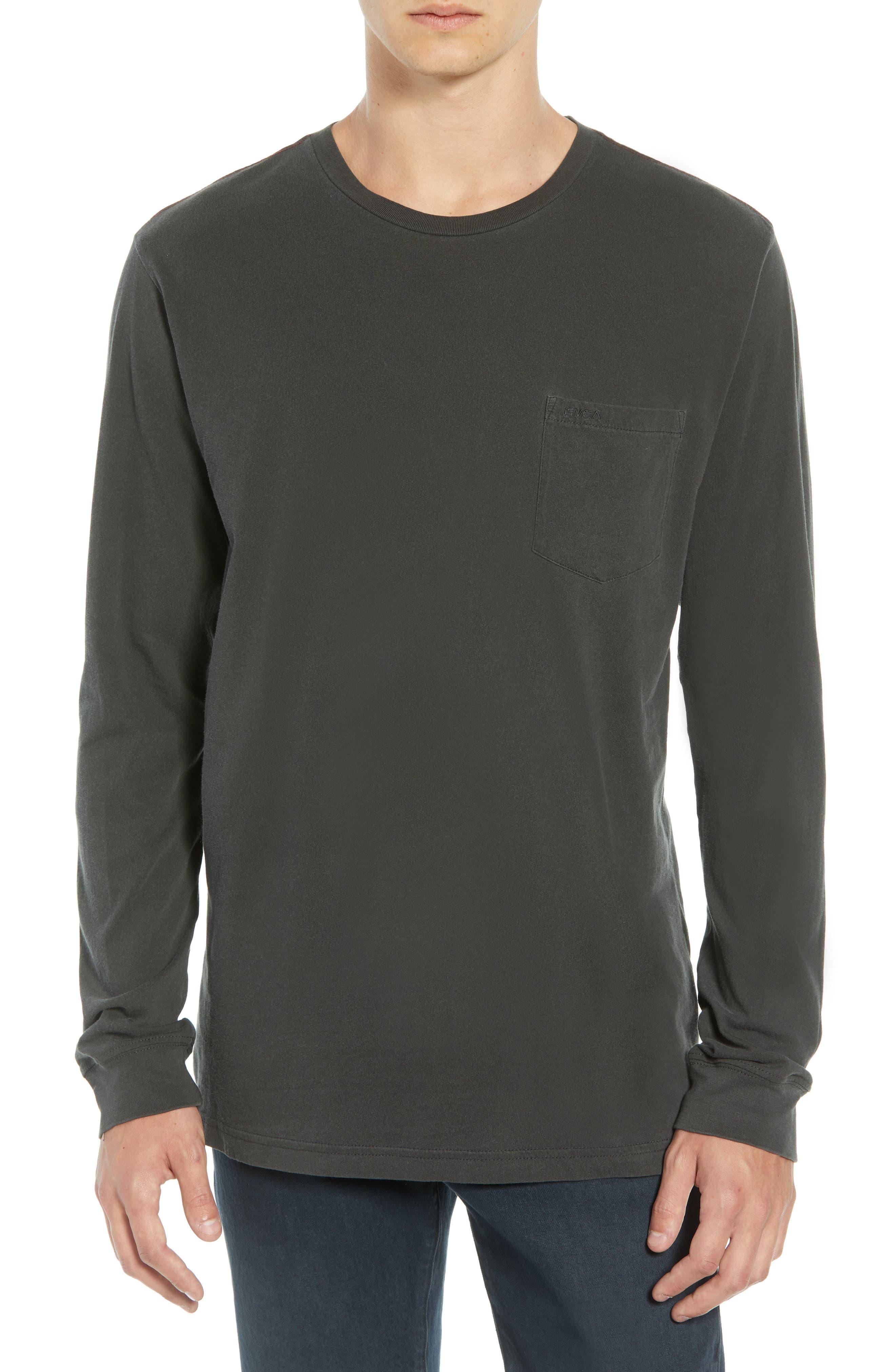 PTC Pigment Long Sleeve T-Shirt,                         Main,                         color, PIRATE BLACK