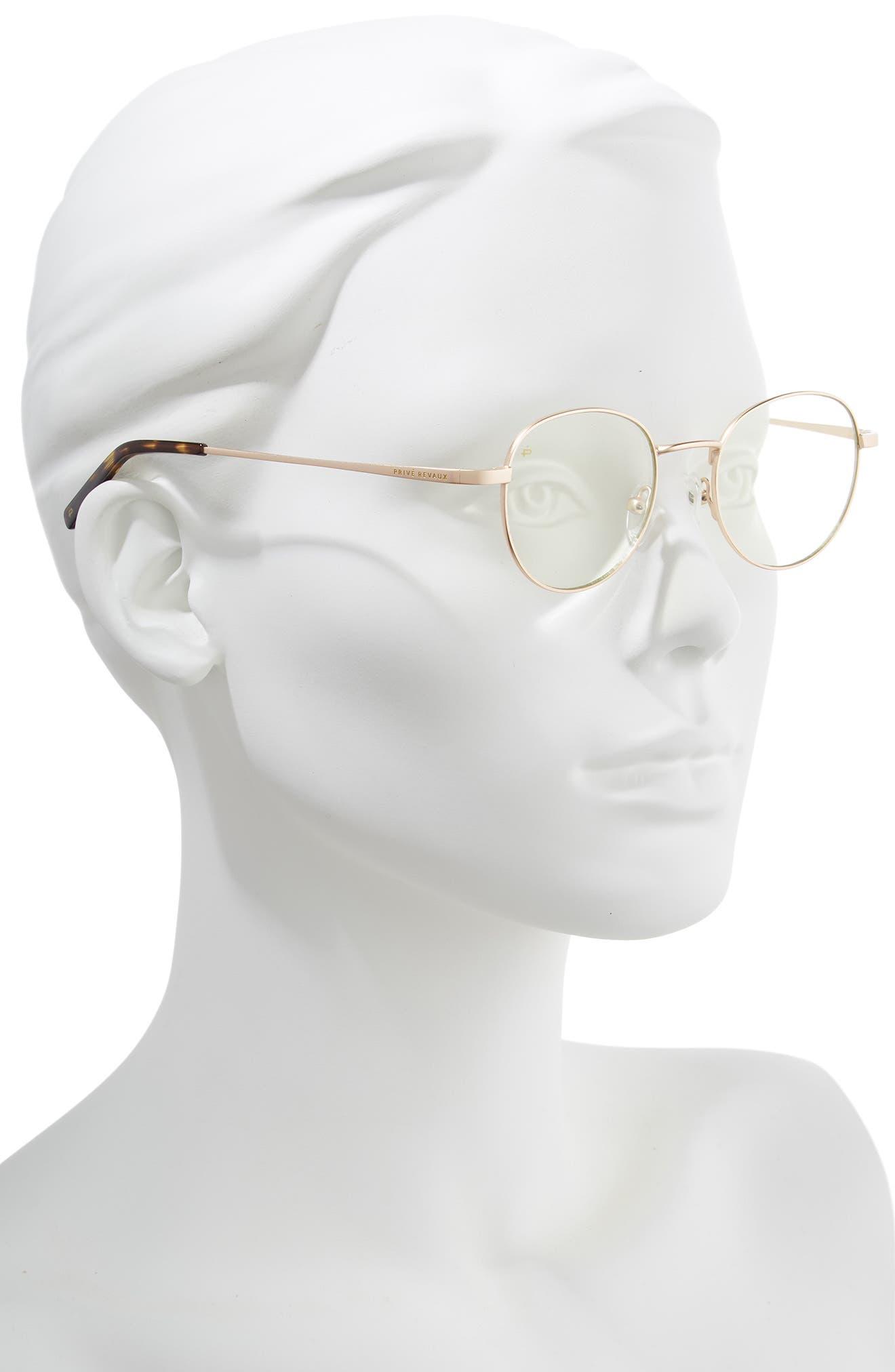 Privé Revaux The Machiavelli 45mm Blue Light Blocking Glasses,                             Alternate thumbnail 4, color,