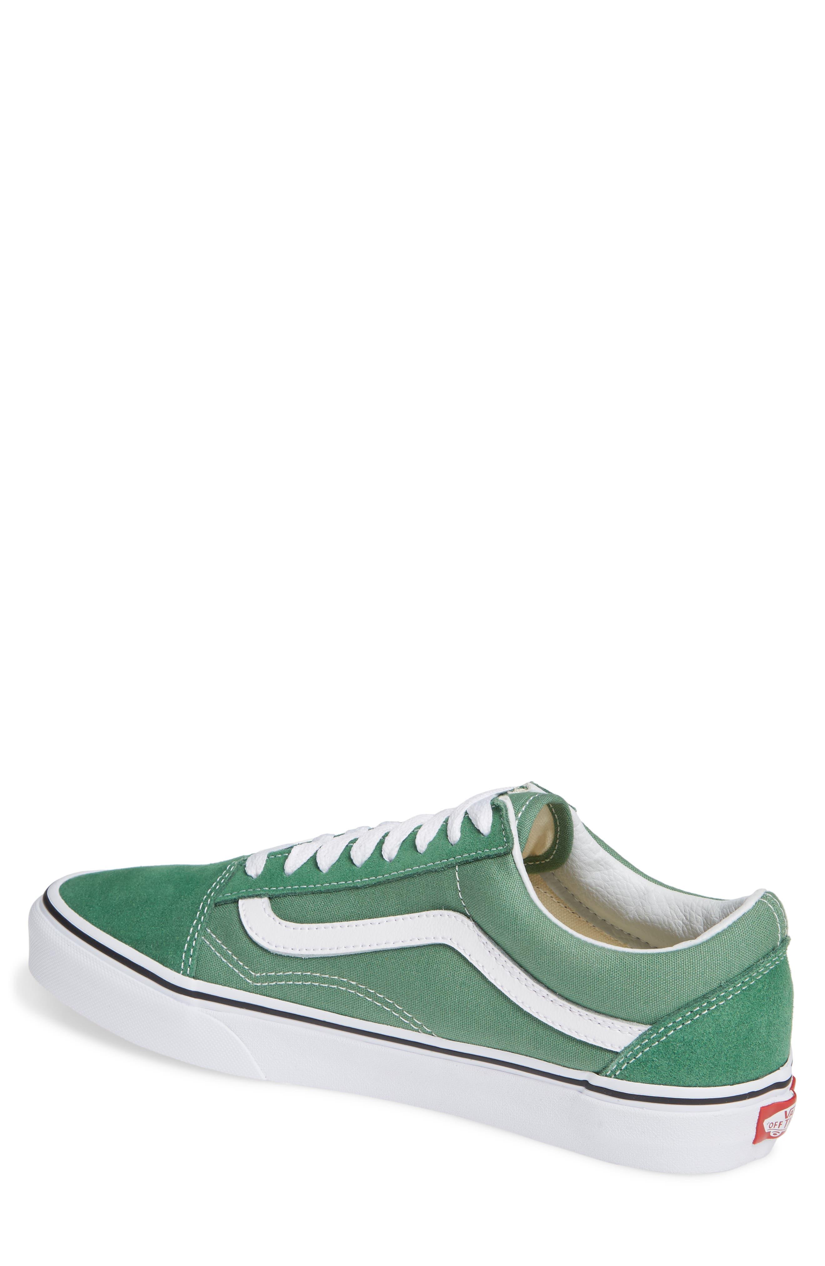 'Old Skool' Sneaker,                             Alternate thumbnail 2, color,                             DEEP GRASS GREEN/ TRUE WHITE