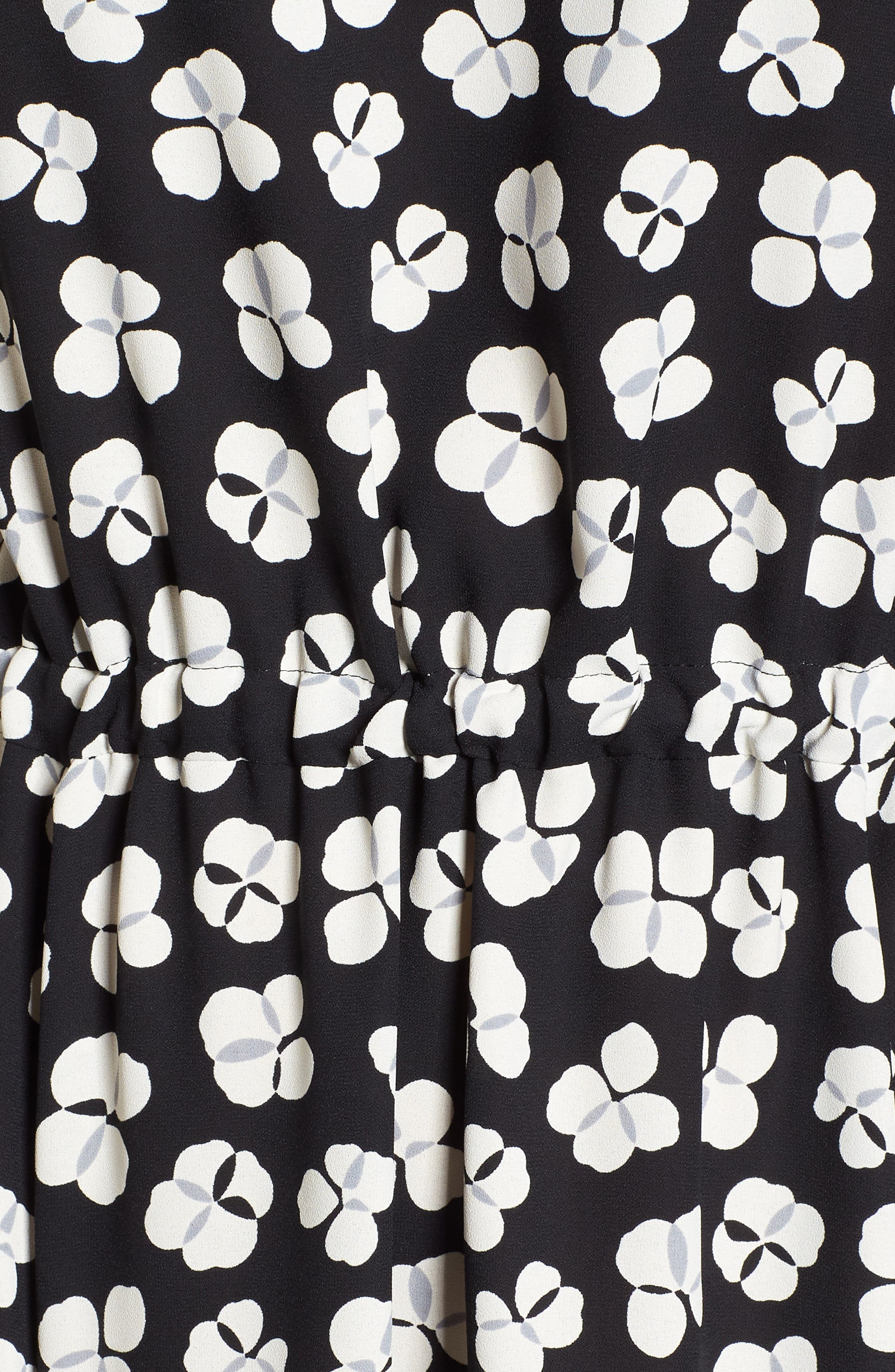 Zuma Petal Drawstring Midi Dress,                             Alternate thumbnail 6, color,                             001