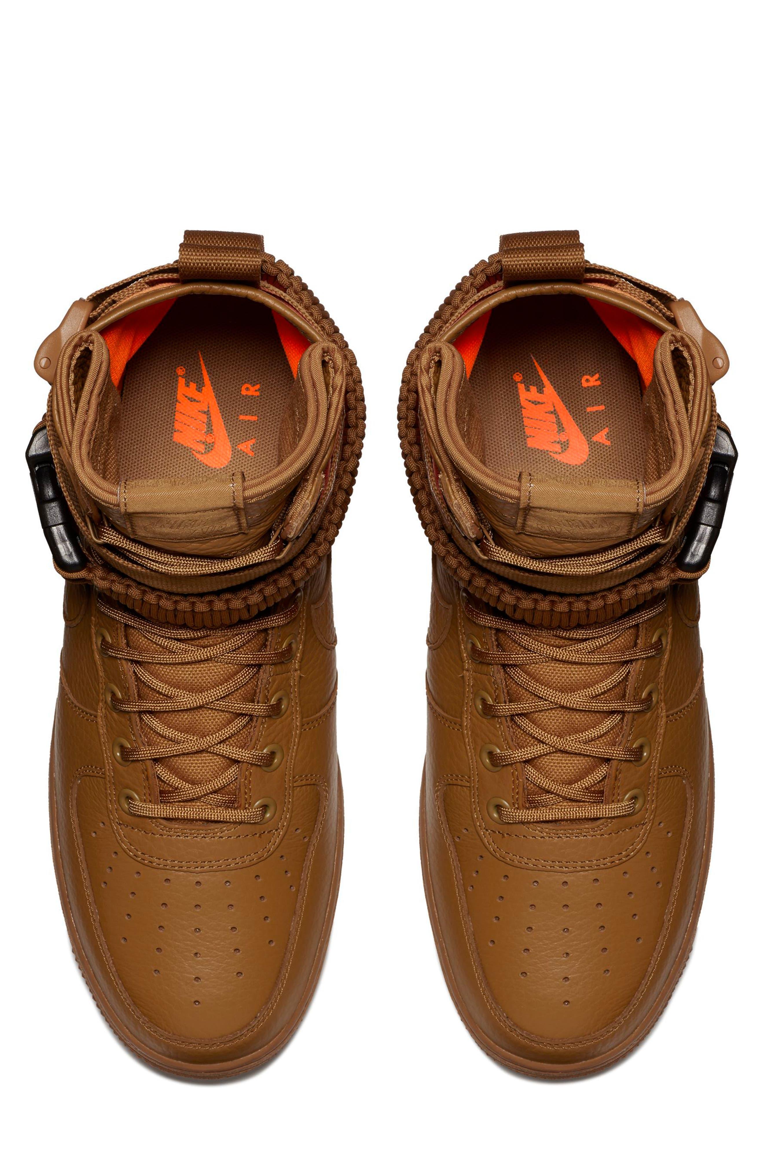 SF Air Force 1 QS High Top Sneaker,                             Alternate thumbnail 4, color,                             200