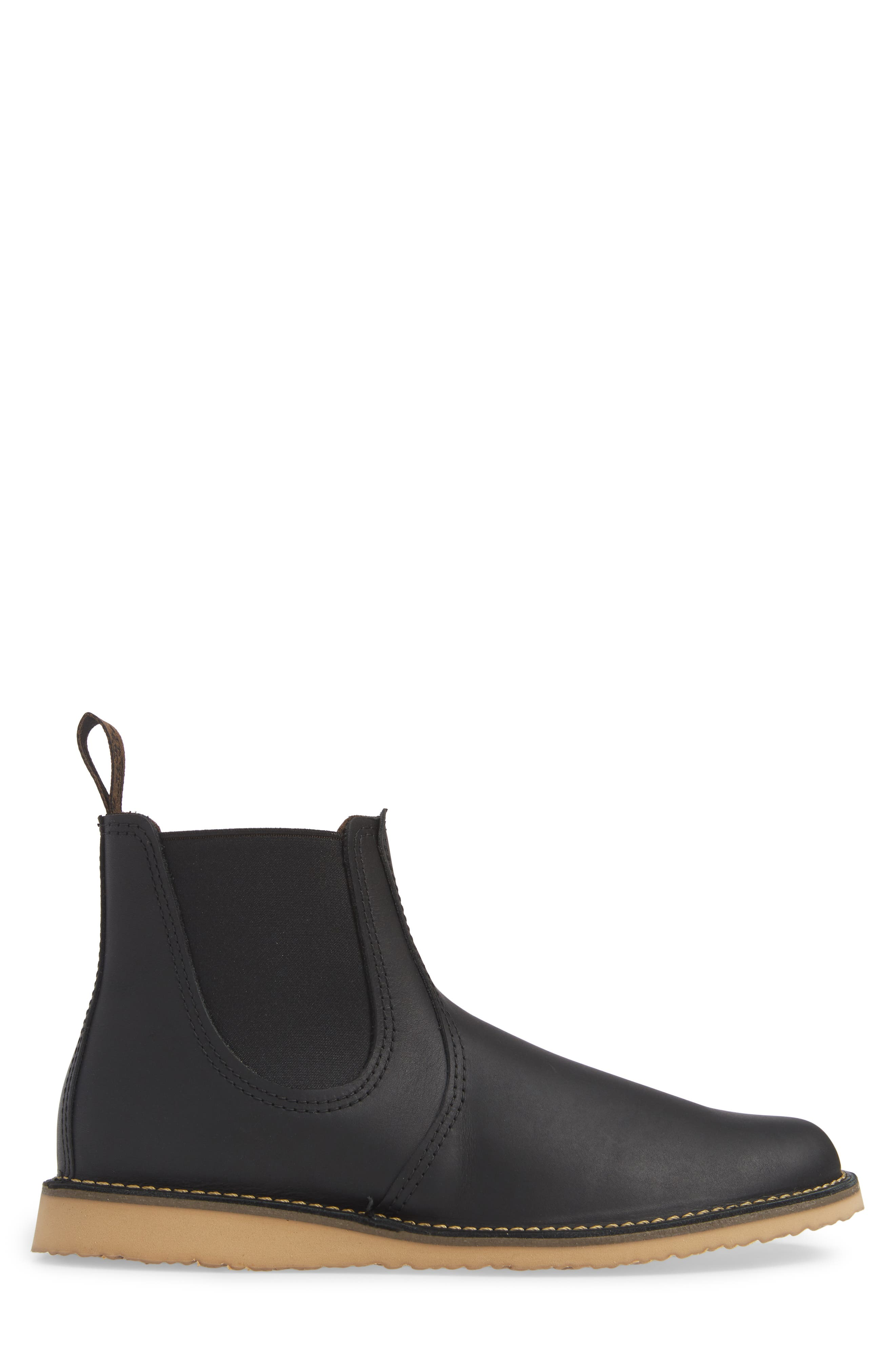 RED WING,                             Chelsea Boot,                             Alternate thumbnail 3, color,                             BLACK HARNESS LEATHER