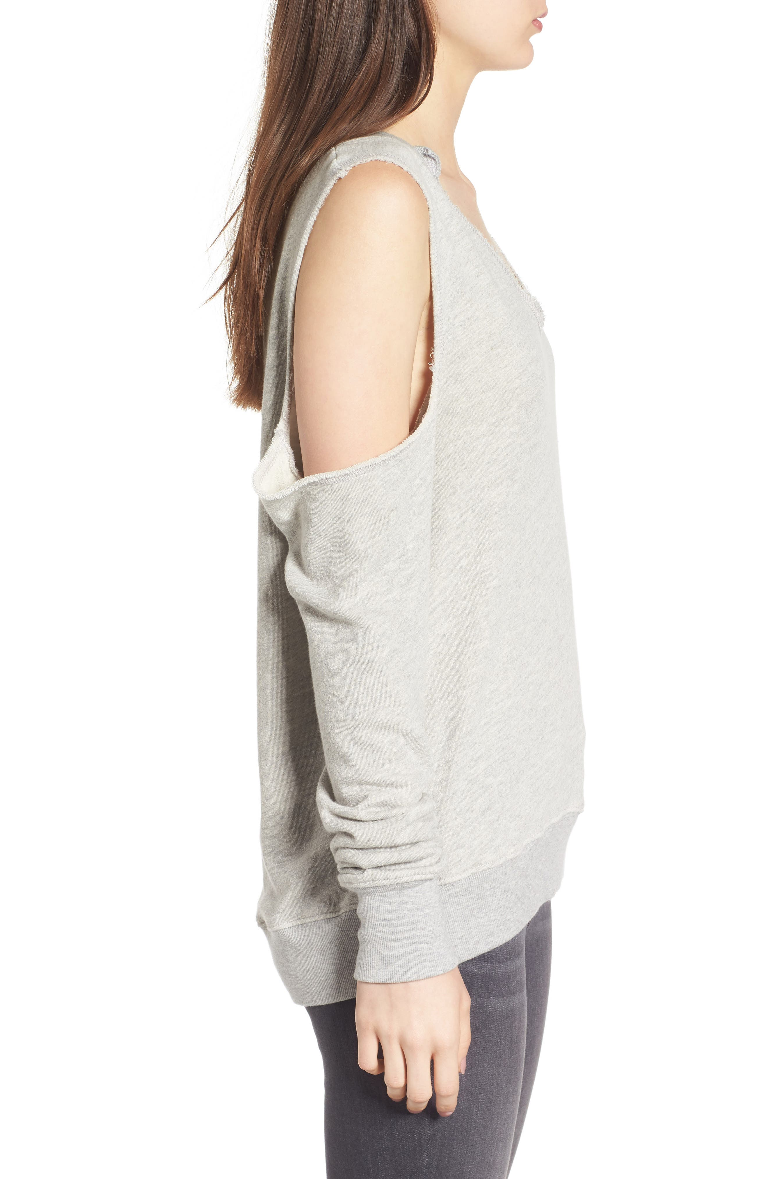 Cold Shoulder Sweatshirt,                             Alternate thumbnail 3, color,                             031