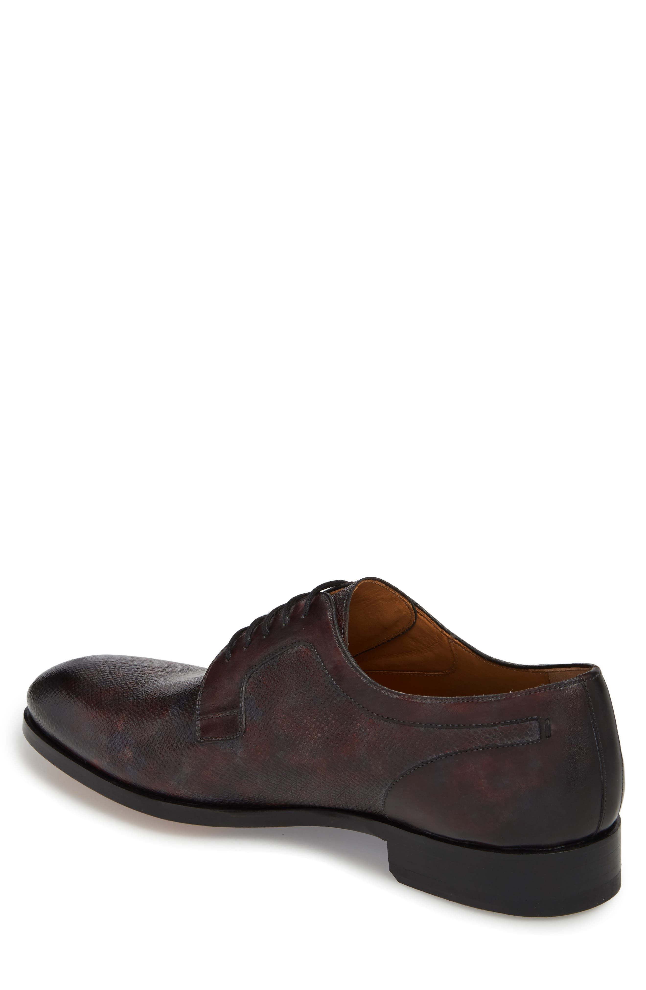 Porter Textured Plain Toe Derby,                             Alternate thumbnail 2, color,                             020