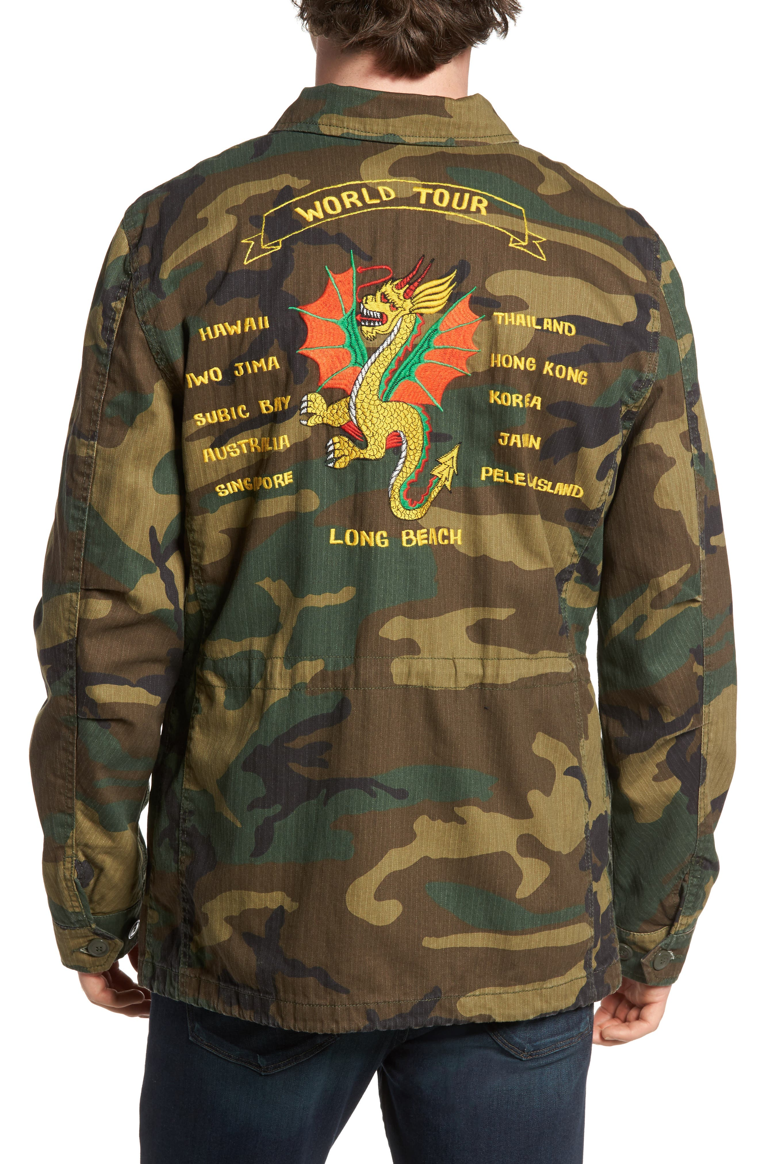 Dragon Tour Camo Field Jacket,                             Alternate thumbnail 2, color,                             361