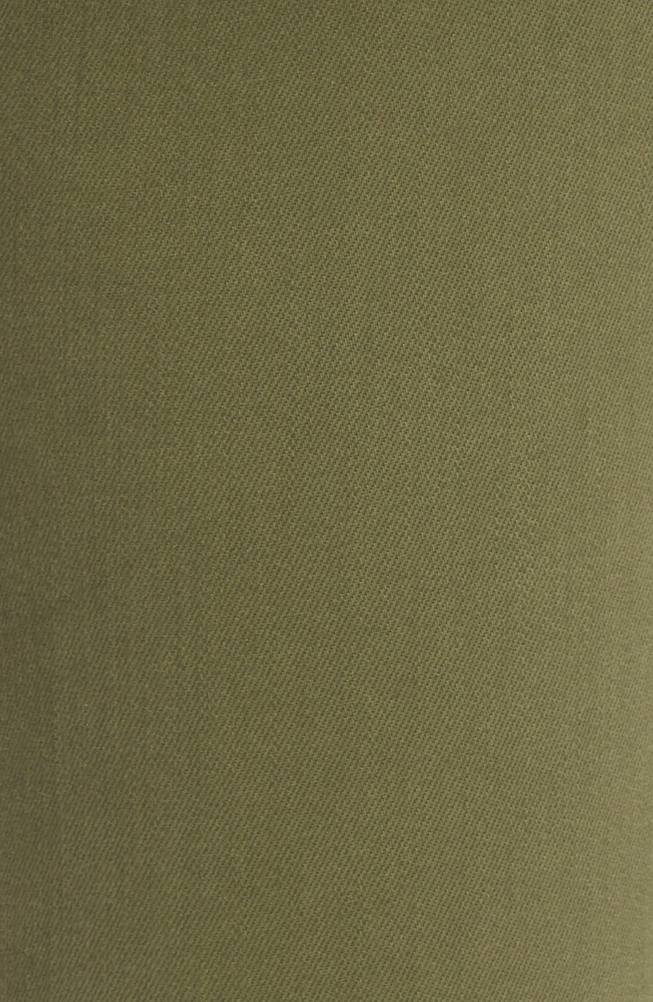 'The Legging' Ankle Jeans,                             Alternate thumbnail 6, color,                             SULFUR OLIVE GROVE