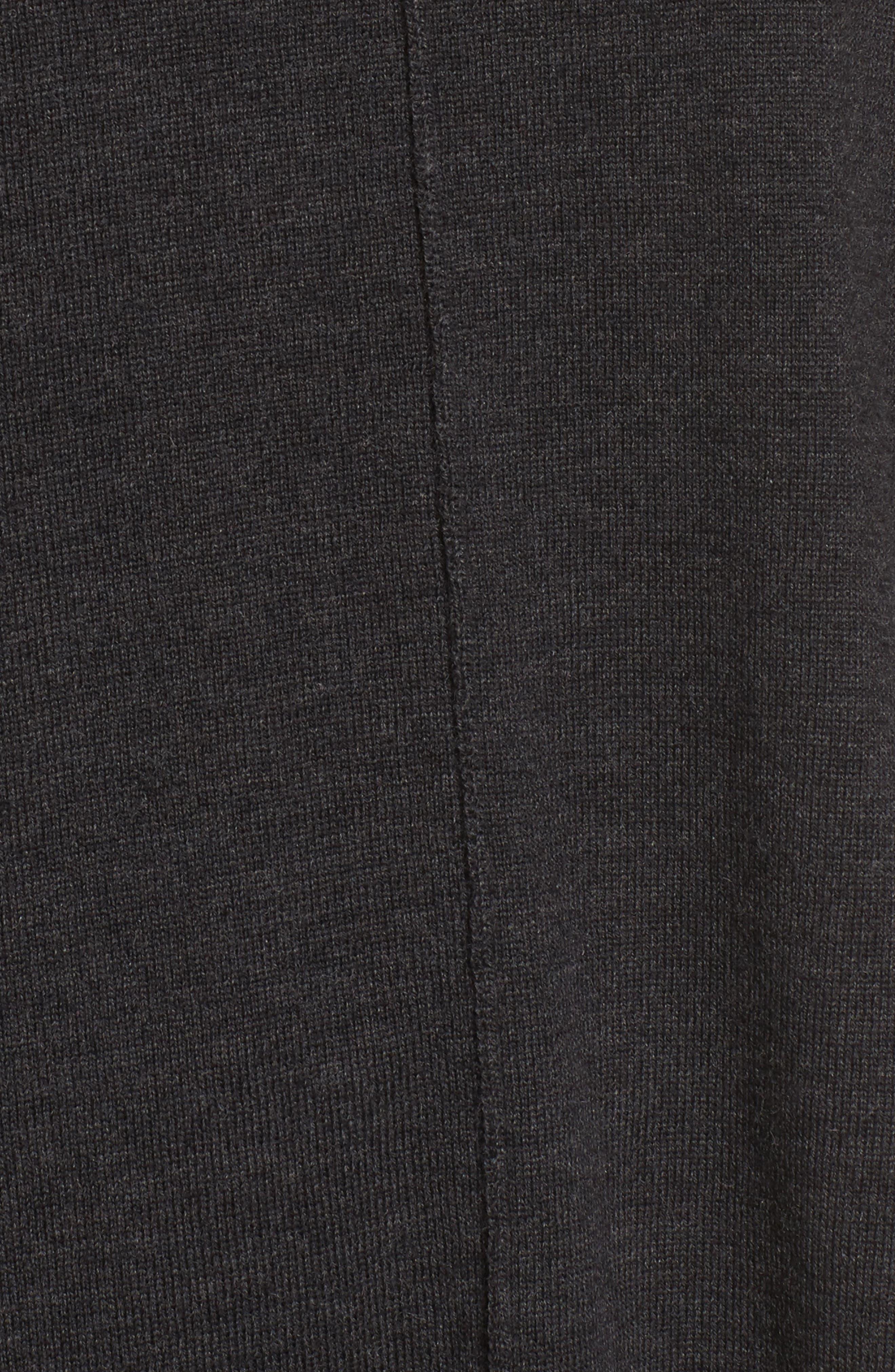 Merino Wool Boxy Turtleneck Sweater,                             Alternate thumbnail 5, color,                             021