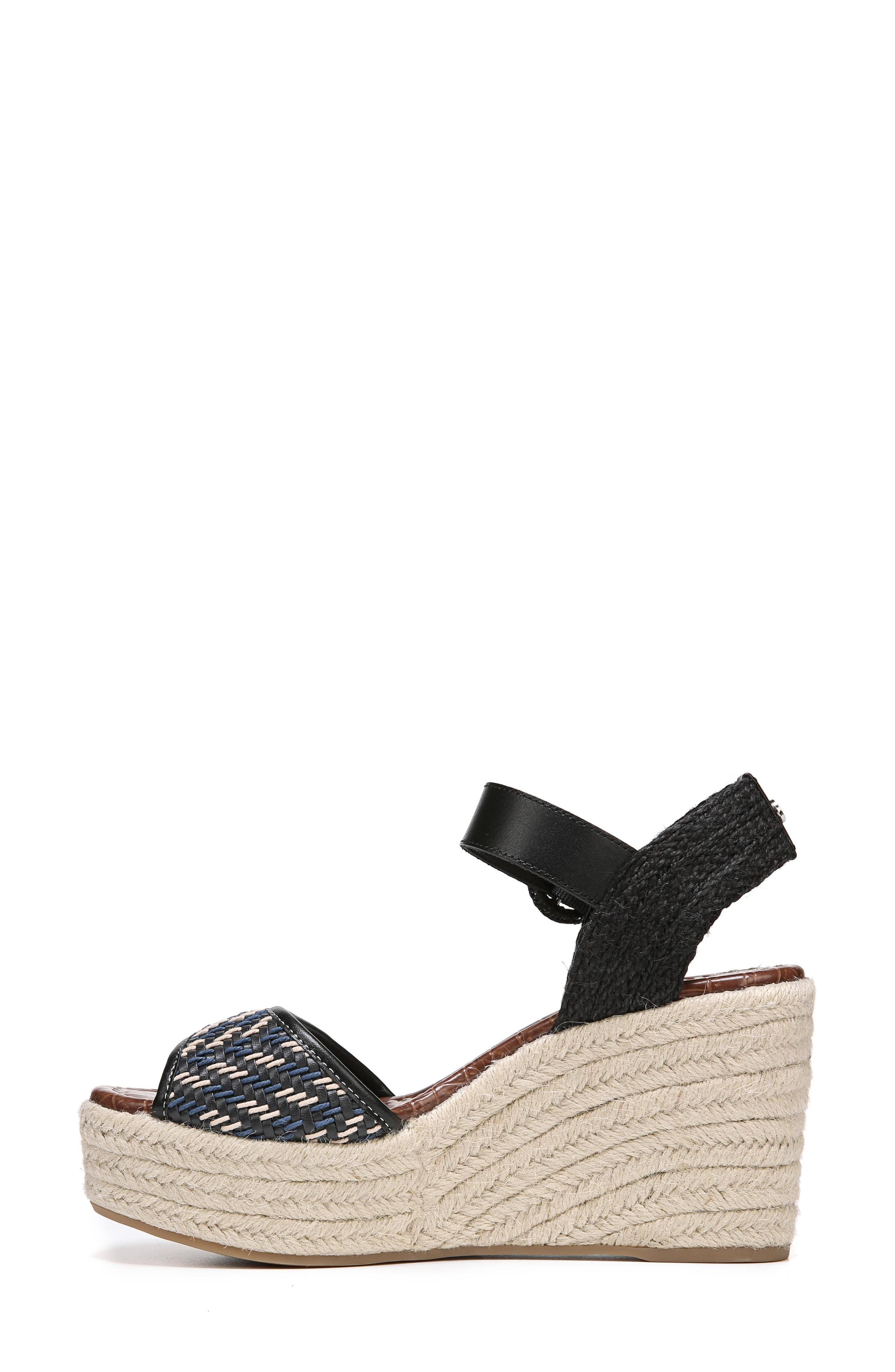 Dimitree Wedge,                             Alternate thumbnail 4, color,                             NAVY/ BLACK