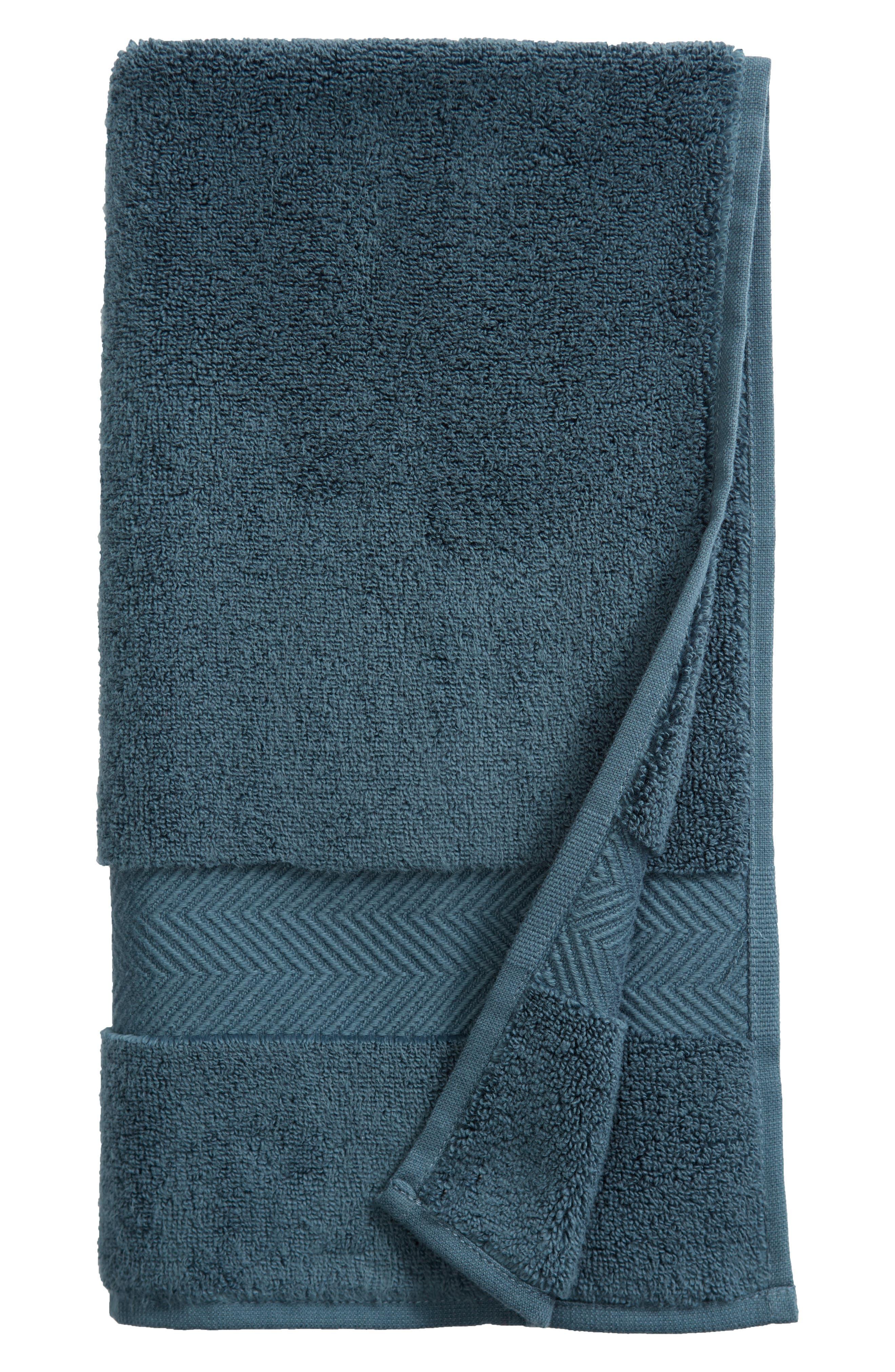Hydrocotton Hand Towel,                         Main,                         color, TEAL GAZER
