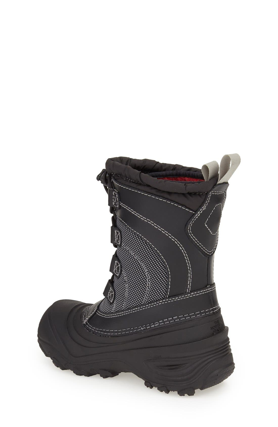 'Alpenglow IV' Bungee Lace Waterproof Boot,                             Alternate thumbnail 2, color,                             BLACK/ BLACK