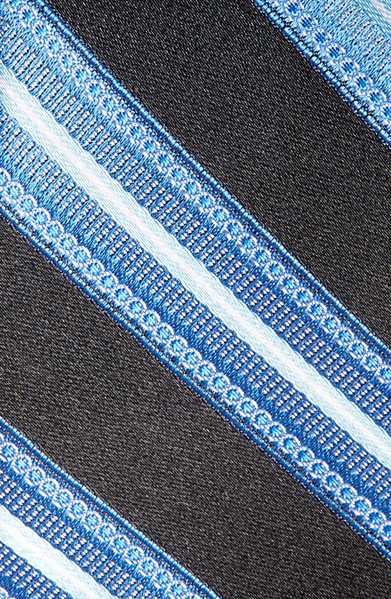 Nordstrom Men's Shop Sunshine Stripe Silk Tie,                             Alternate thumbnail 2, color,                             001