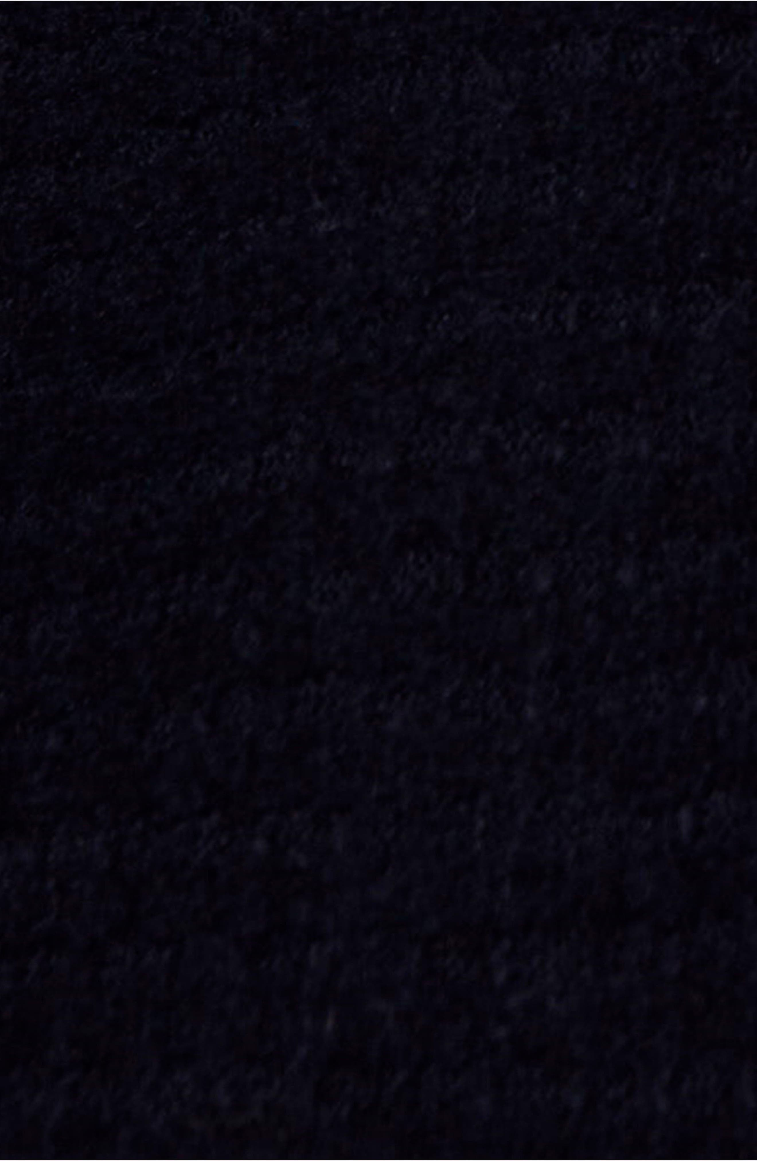 Kitty Thermal Turtleneck,                             Alternate thumbnail 5, color,                             BLACK