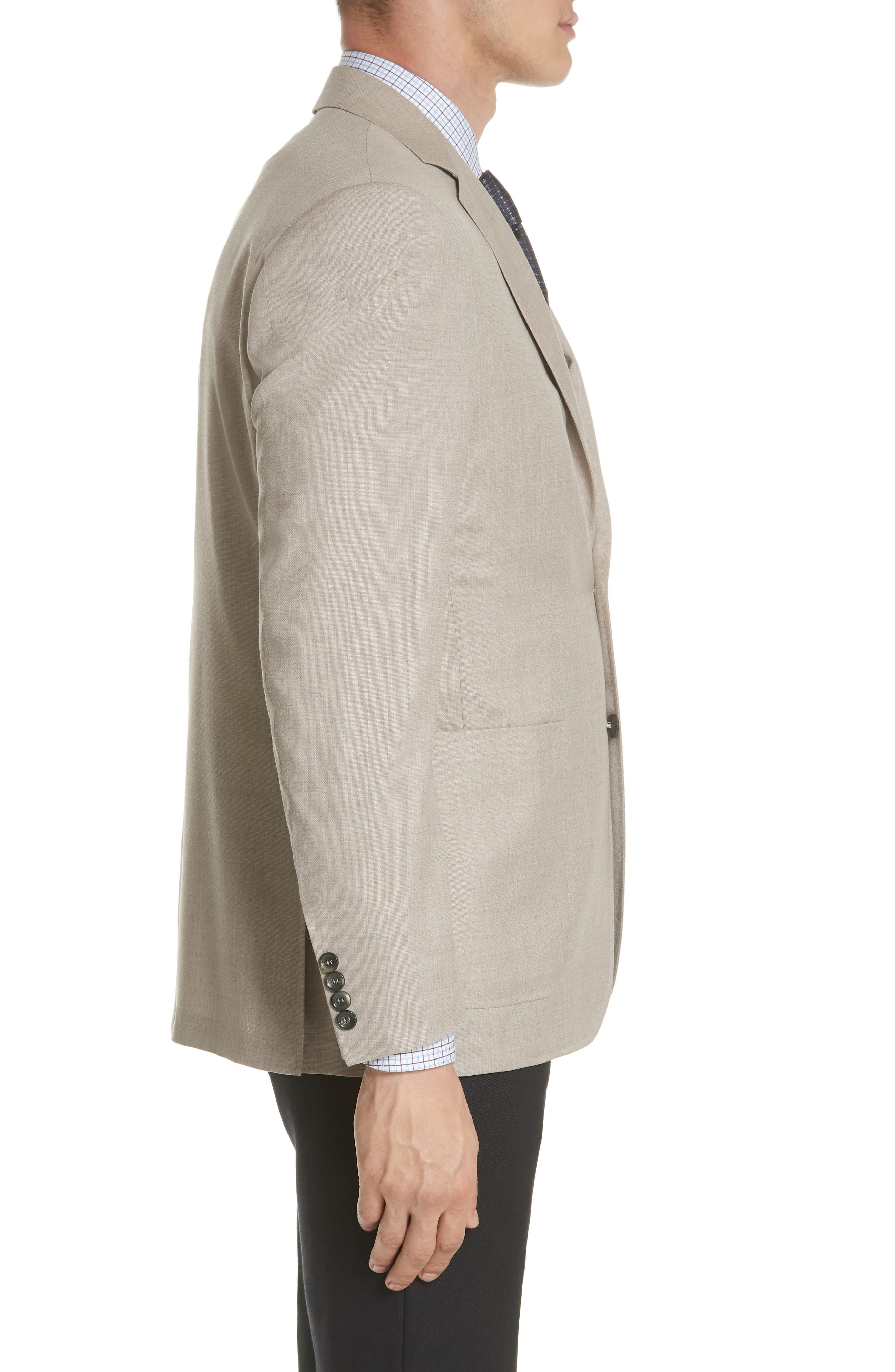 Classic Fit Wool Sport Coat,                             Alternate thumbnail 3, color,