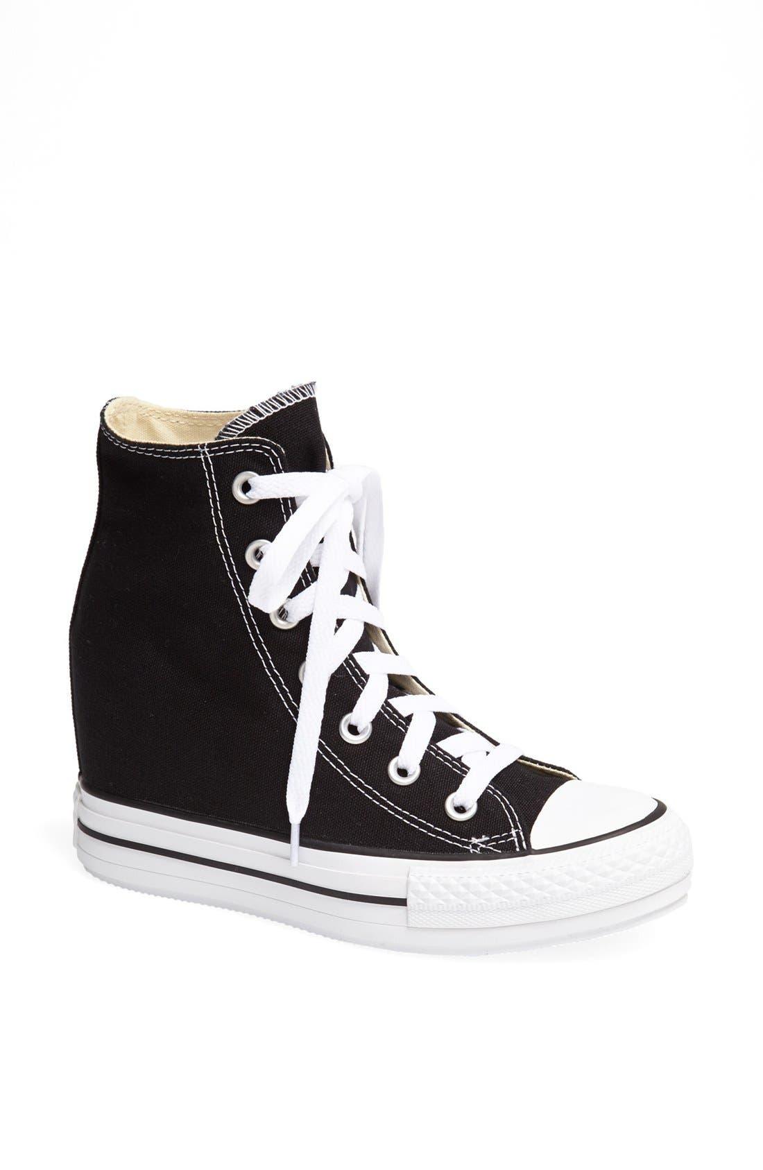 Chuck Taylor<sup>®</sup> All Star<sup>®</sup> Hidden Wedge Platform High-Top Sneaker,                             Main thumbnail 1, color,                             001
