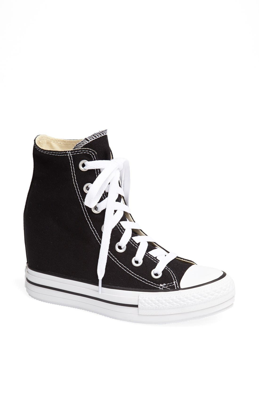 Chuck Taylor<sup>®</sup> All Star<sup>®</sup> Hidden Wedge Platform High-Top Sneaker, Main, color, 001