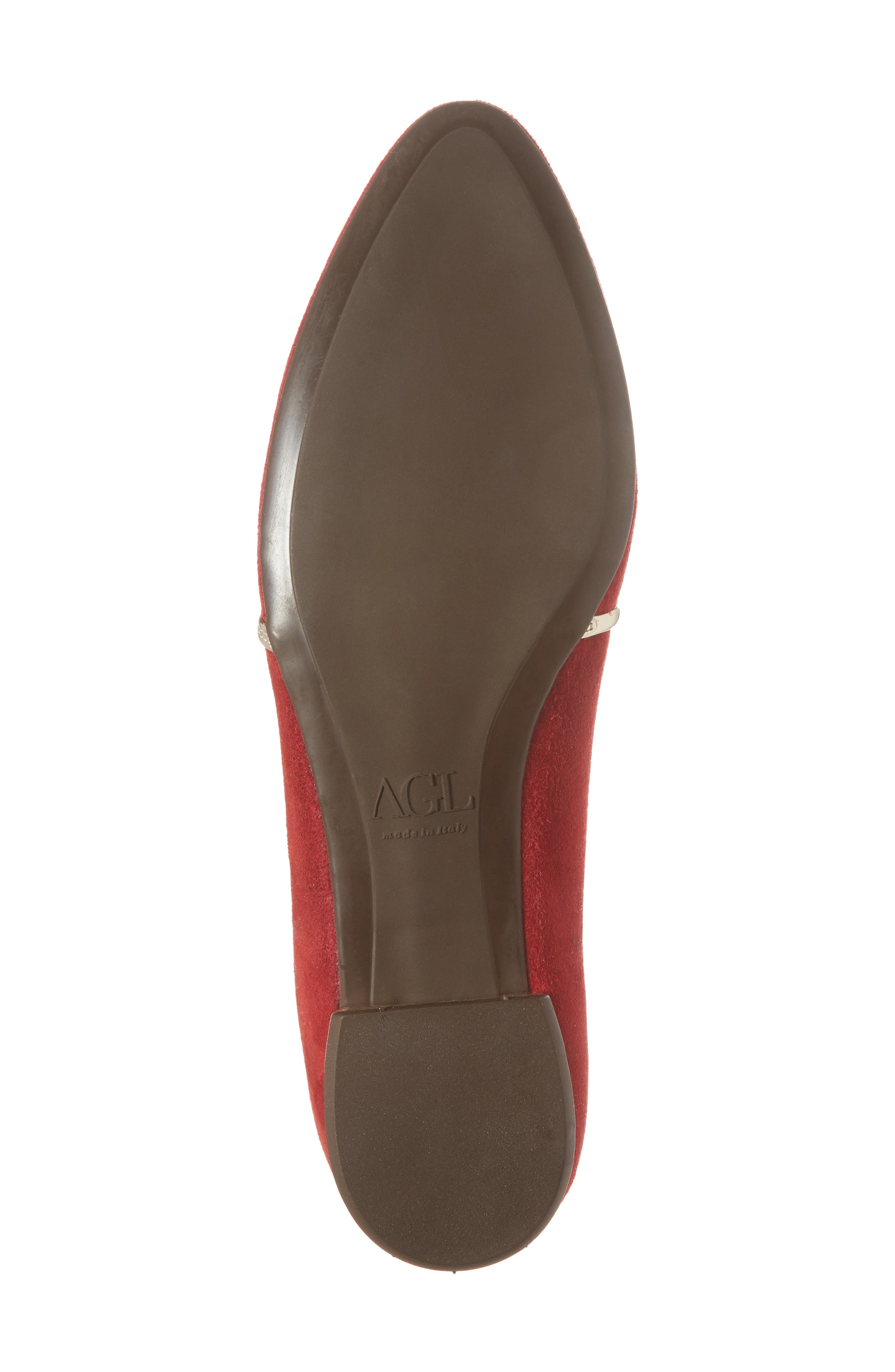 Smoking Slipper,                             Alternate thumbnail 6, color,                             RED SUEDE
