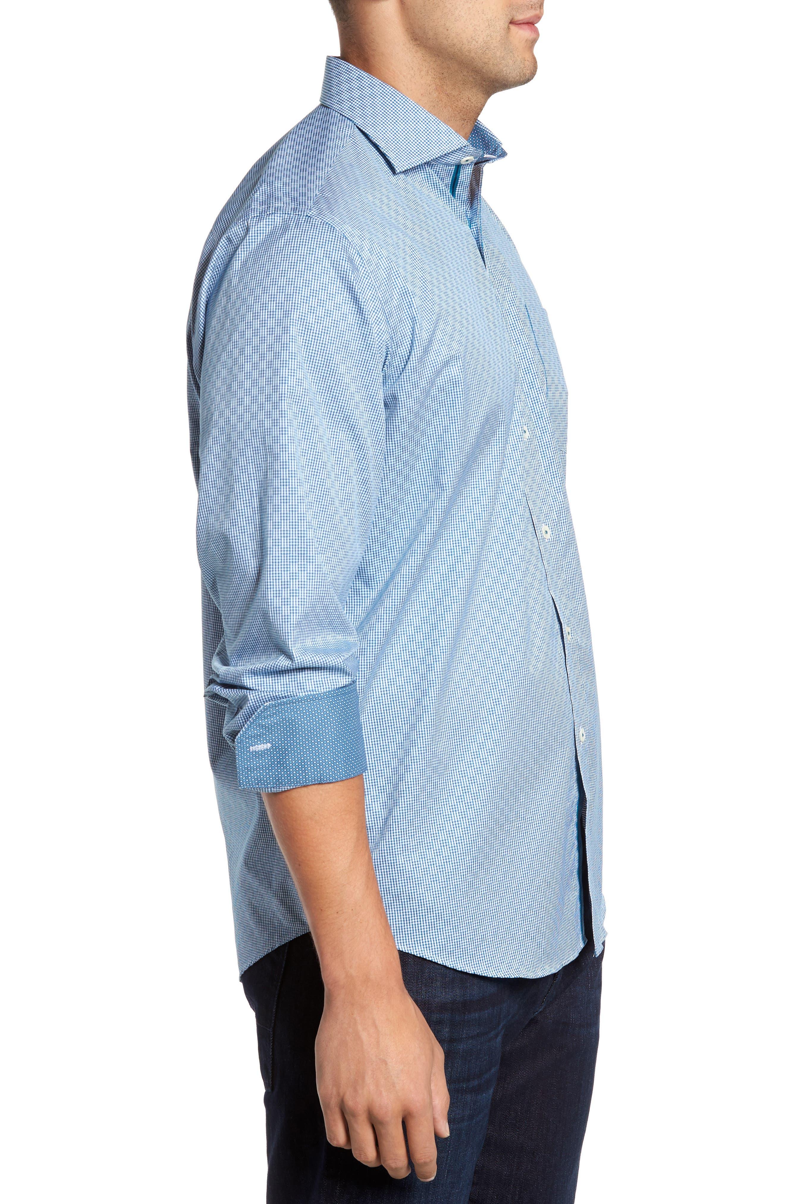 Classic Fit Check Sport Shirt,                             Alternate thumbnail 3, color,                             445