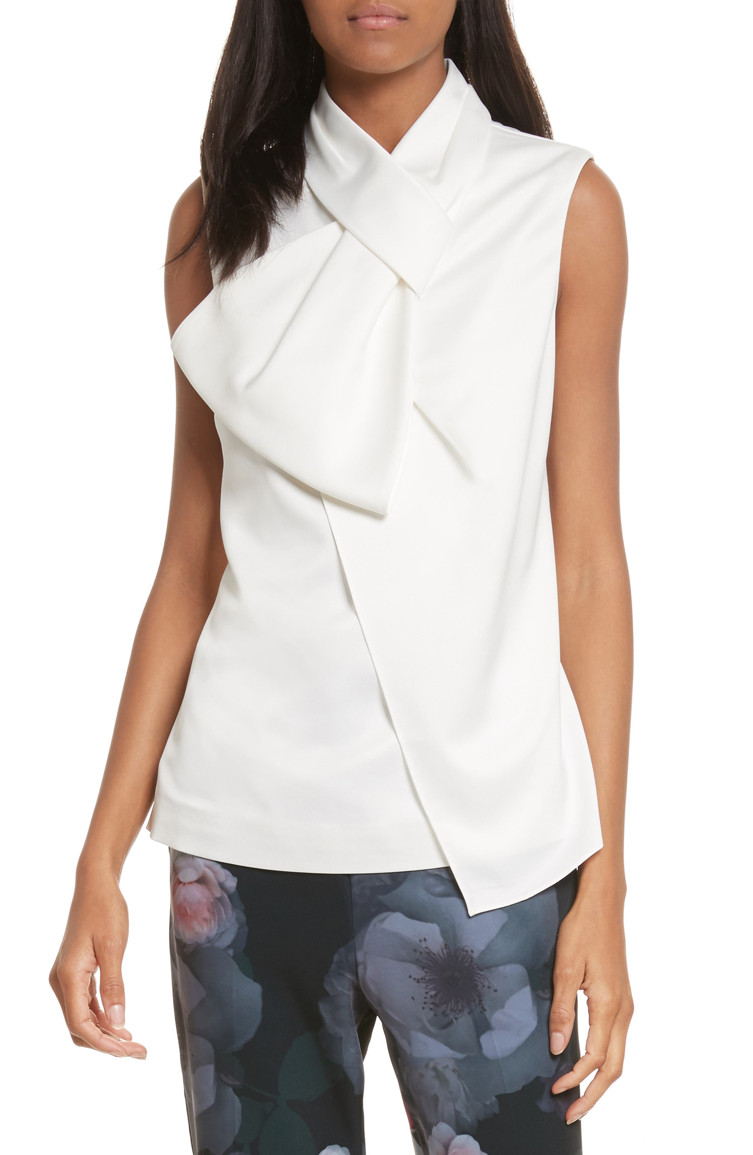 Kristaa Twisted Bow Neck Top,                         Main,                         color, 905