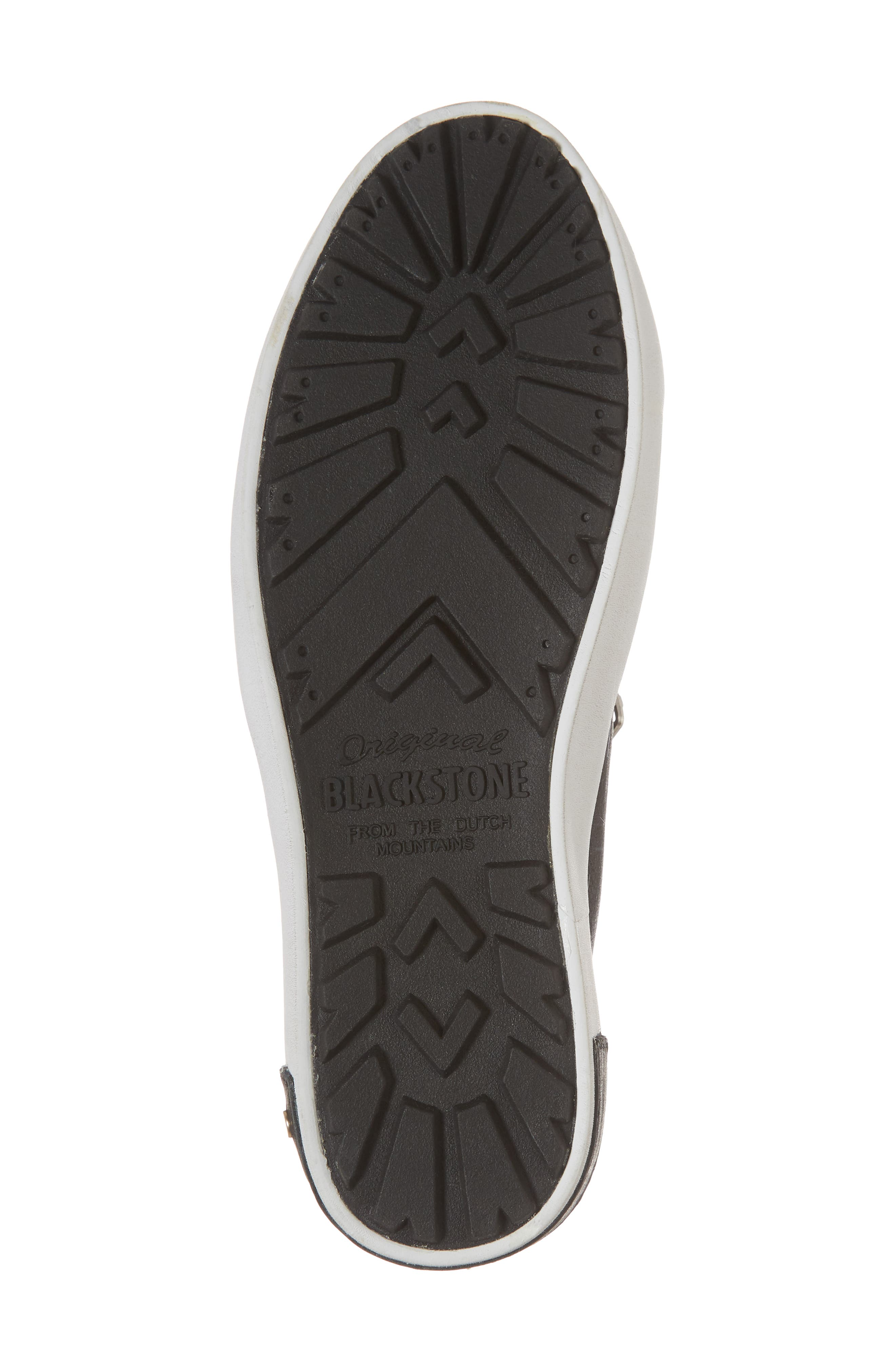 PL82 Slip-On Sneaker,                             Alternate thumbnail 6, color,                             BLACK LEATHER