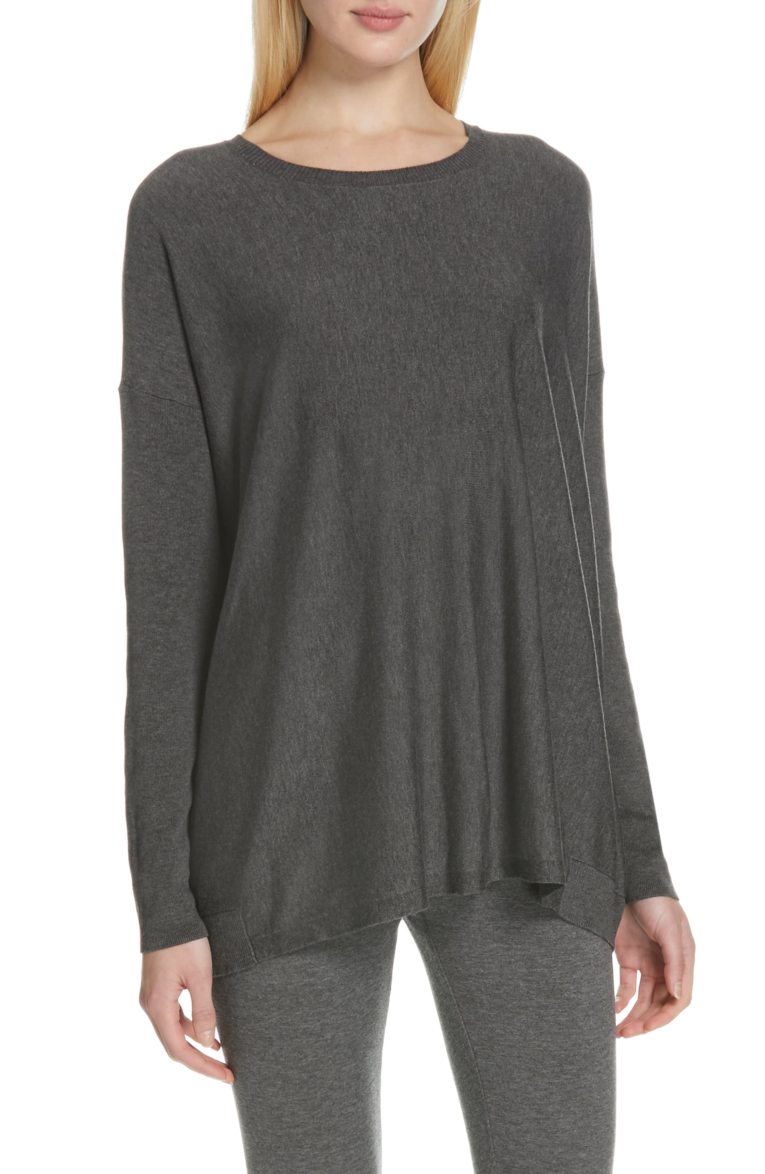 EILEEN FISHER, Tencel<sup>®</sup> Lyocell Blend Sweater, Main thumbnail 1, color, 030