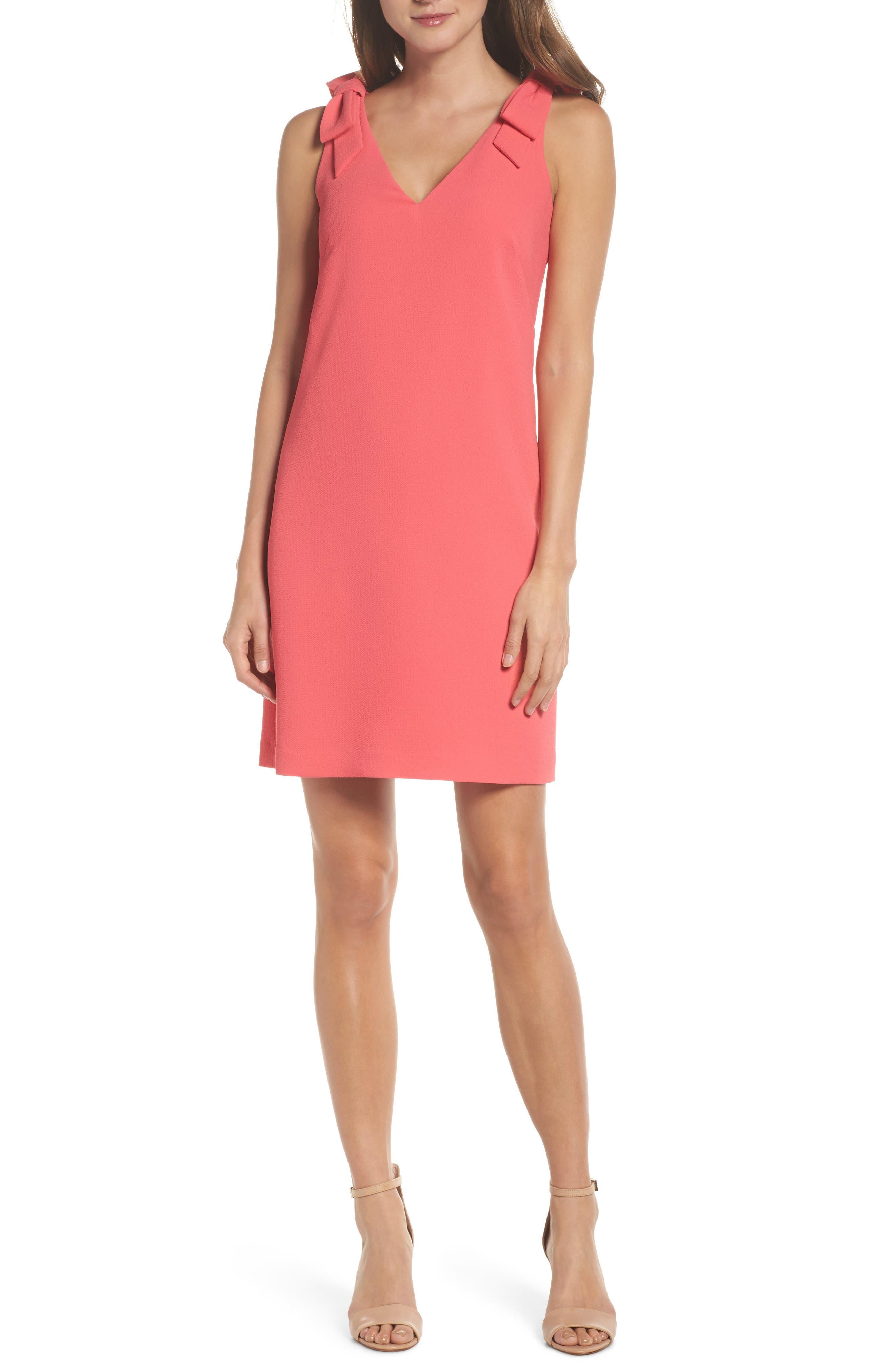 Bow Sheath Dress,                             Main thumbnail 2, color,