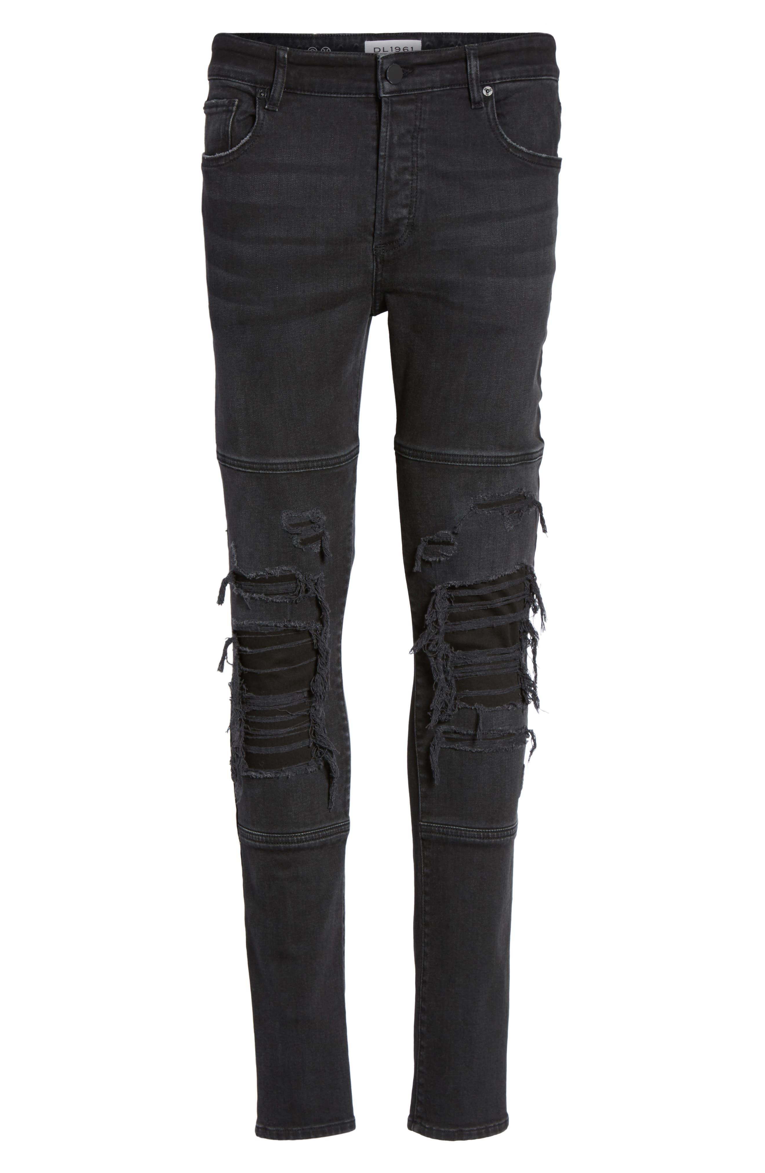 Hunter Skinny Jeans,                             Alternate thumbnail 6, color,                             001