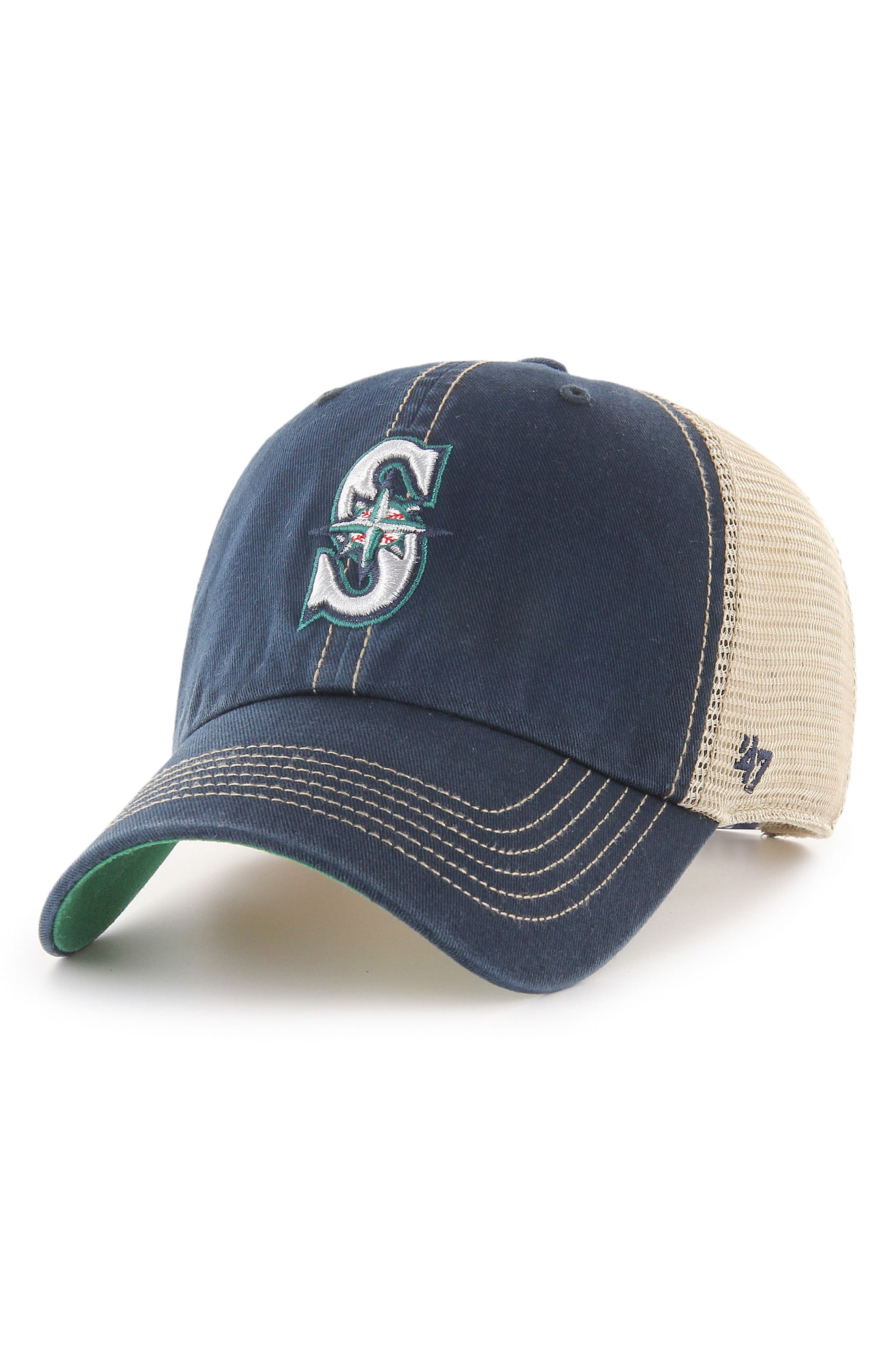MLB Trawler Ball Cap,                         Main,                         color, SEATTLE MARINERS