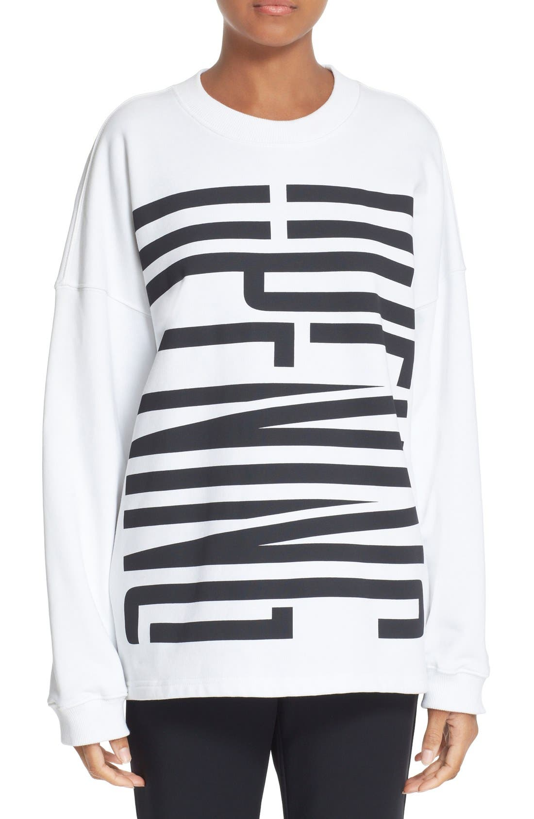 Graphic Cotton Sweatshirt,                         Main,                         color, 100