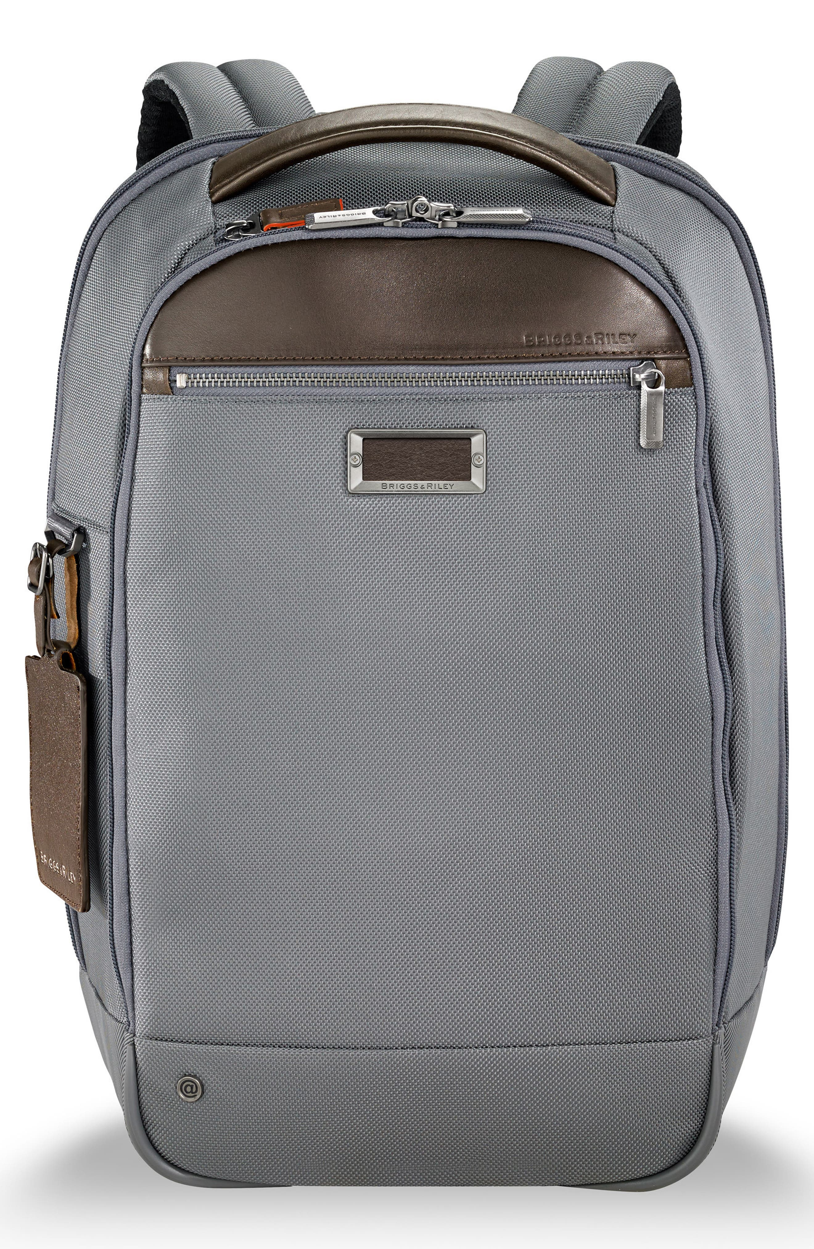 @work Slim Backpack,                         Main,                         color, GREY