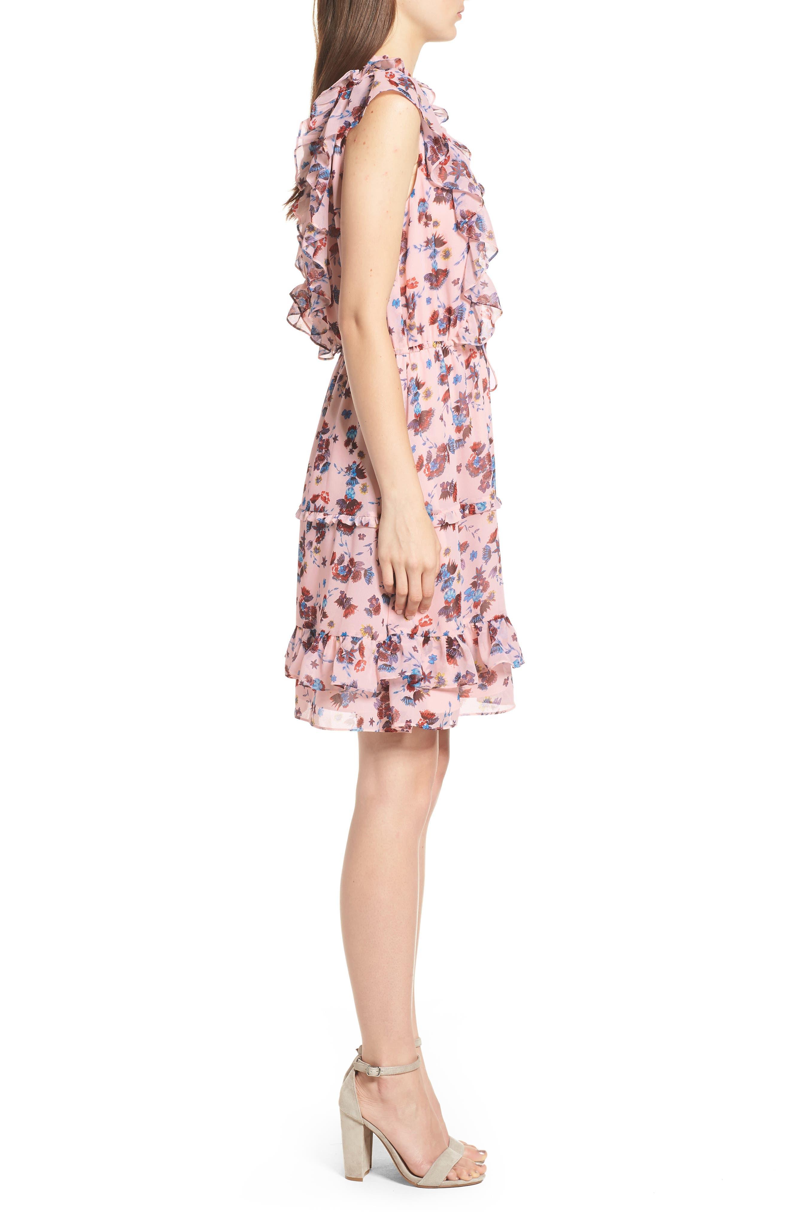Kika Dress,                             Alternate thumbnail 3, color,                             PINK MULTI