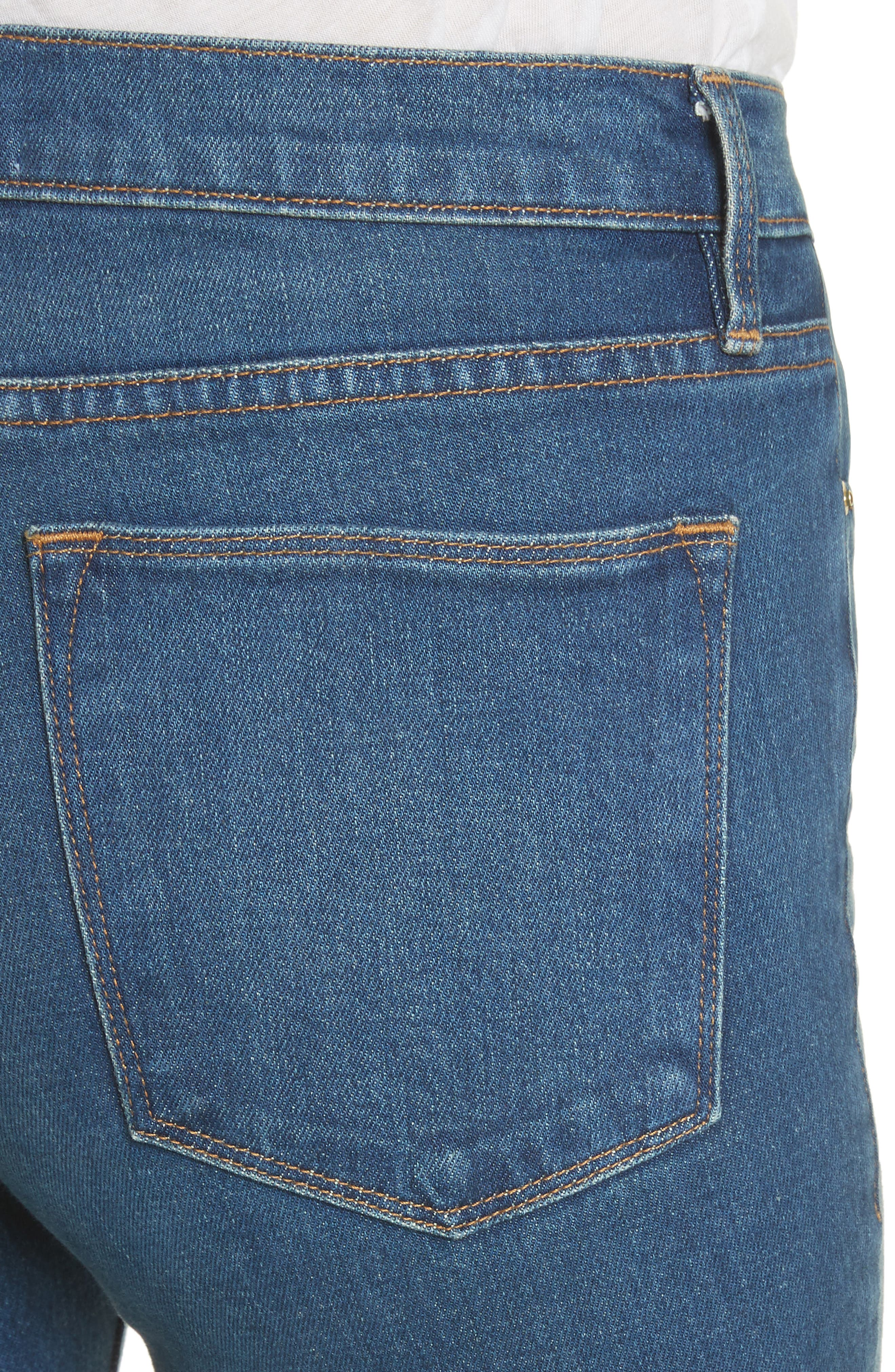 Le High Flare Jeans,                             Alternate thumbnail 4, color,                             401