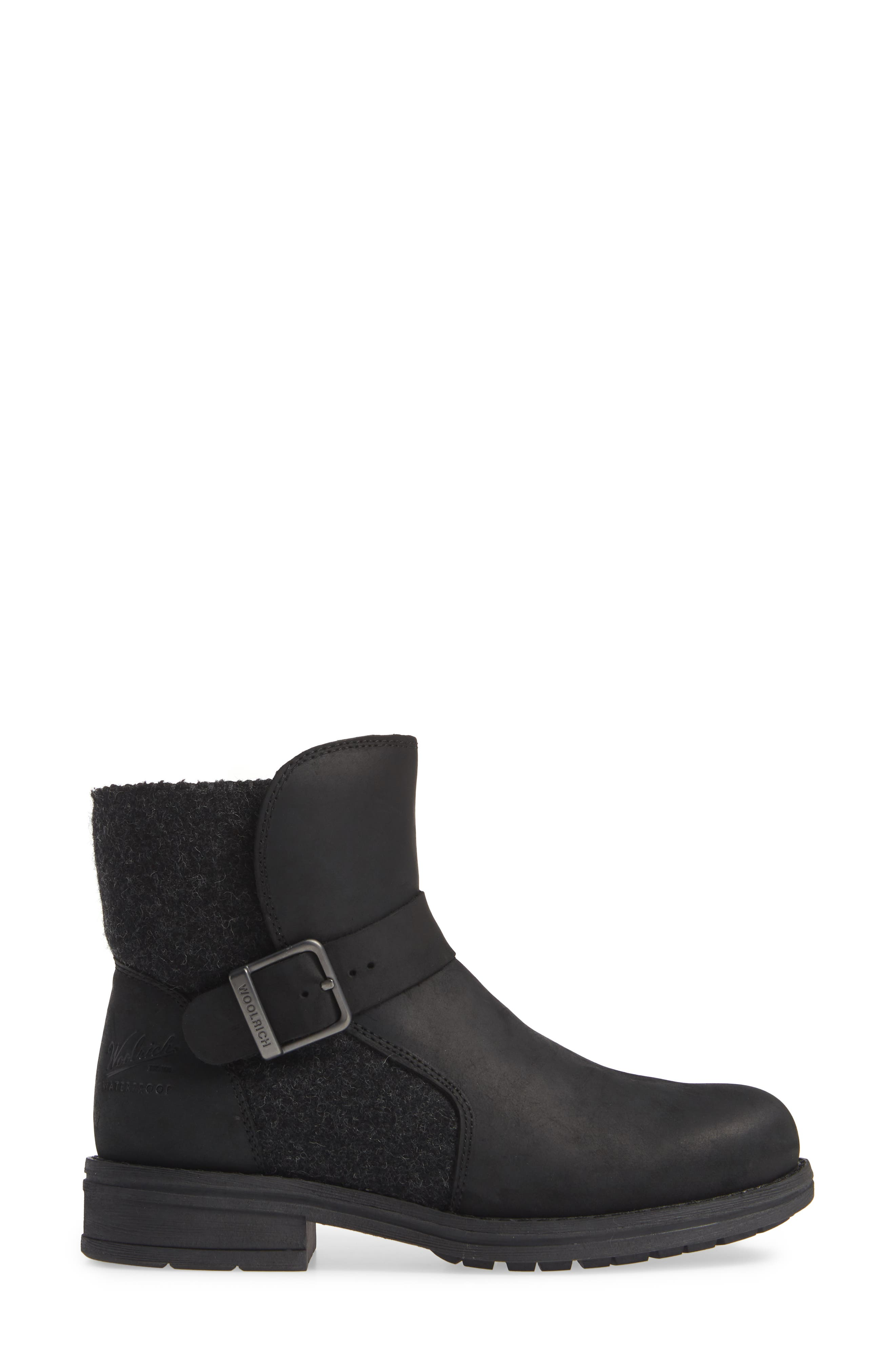 Pioneer Bootie,                             Alternate thumbnail 3, color,                             BLACK LEATHER