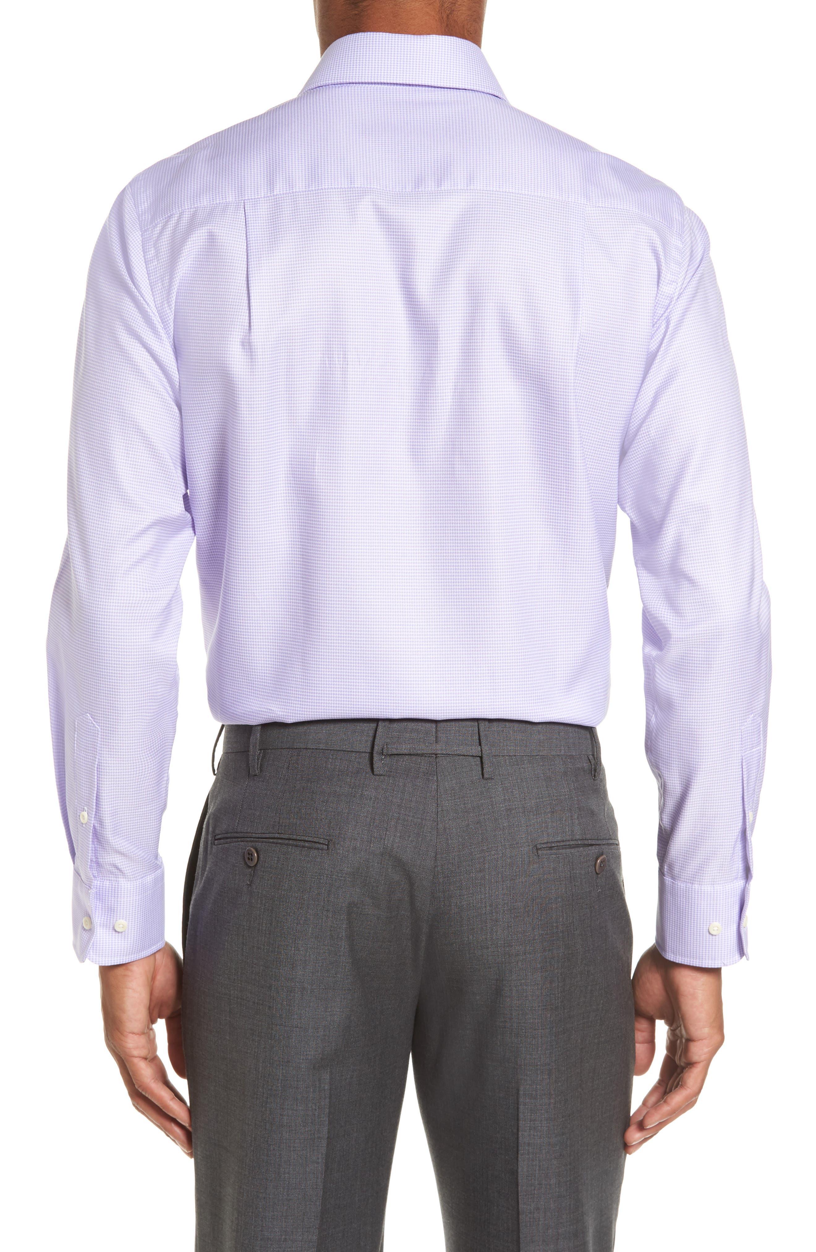 Trim Fit Houndstooth Dress Shirt,                             Alternate thumbnail 2, color,                             534