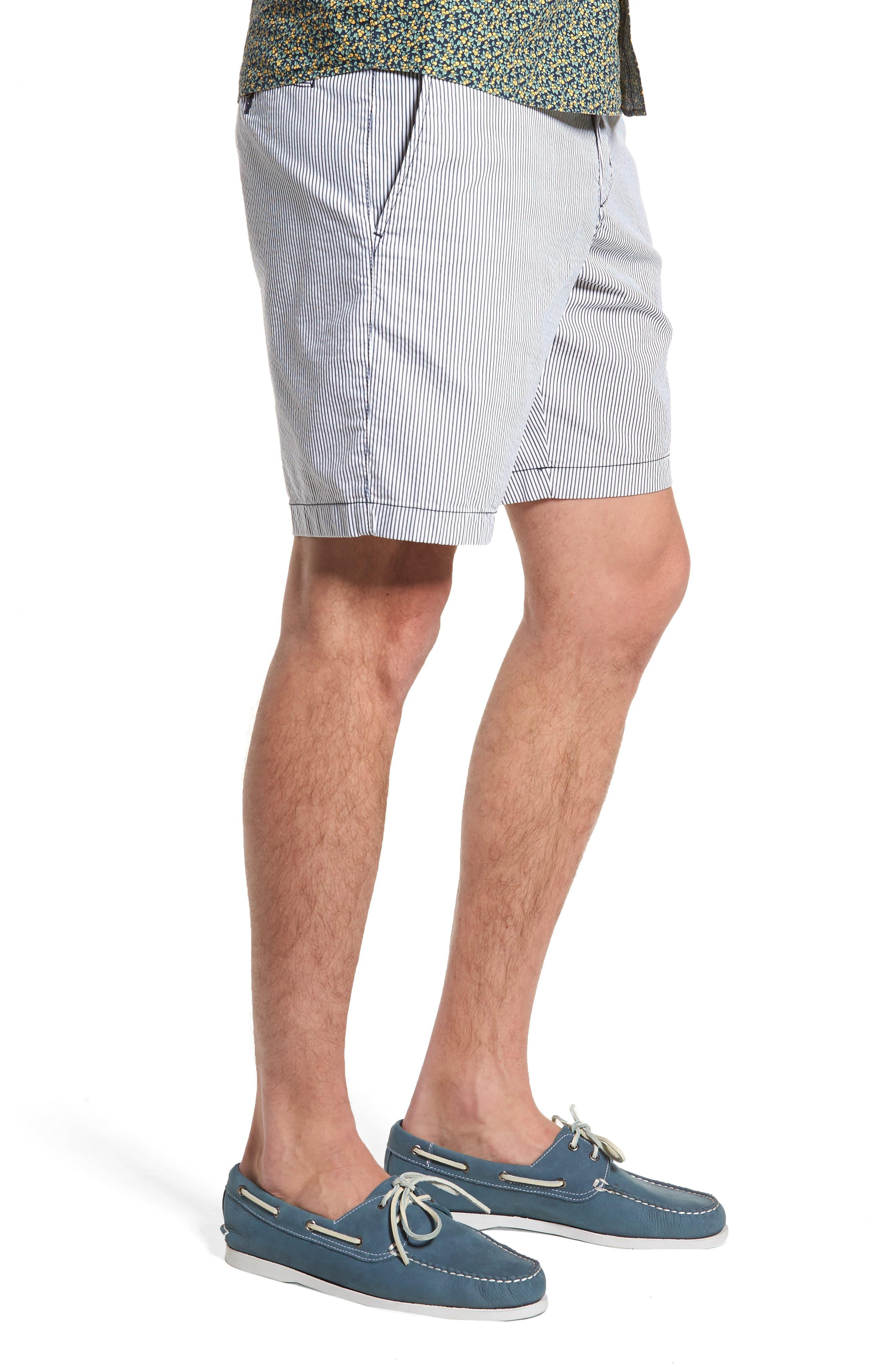 Ballard Slim Fit Seersucker Shorts,                             Alternate thumbnail 3, color,                             410