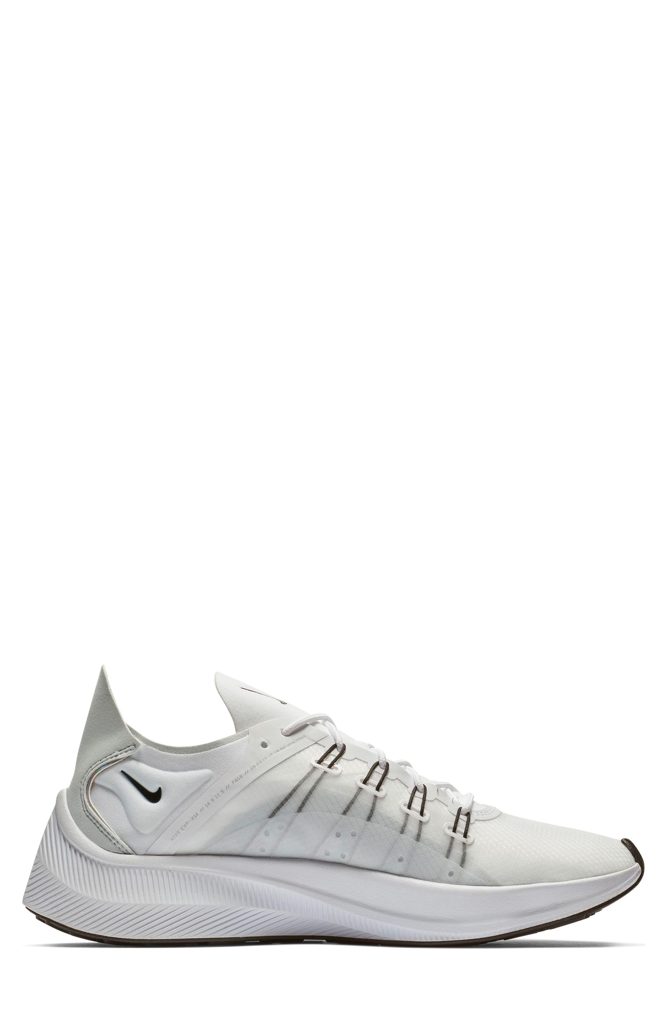 NIKE,                             EXP-X14 Y2K Running Shoe,                             Alternate thumbnail 2, color,                             WHITE/ PURE PLATINUM/ BLACK