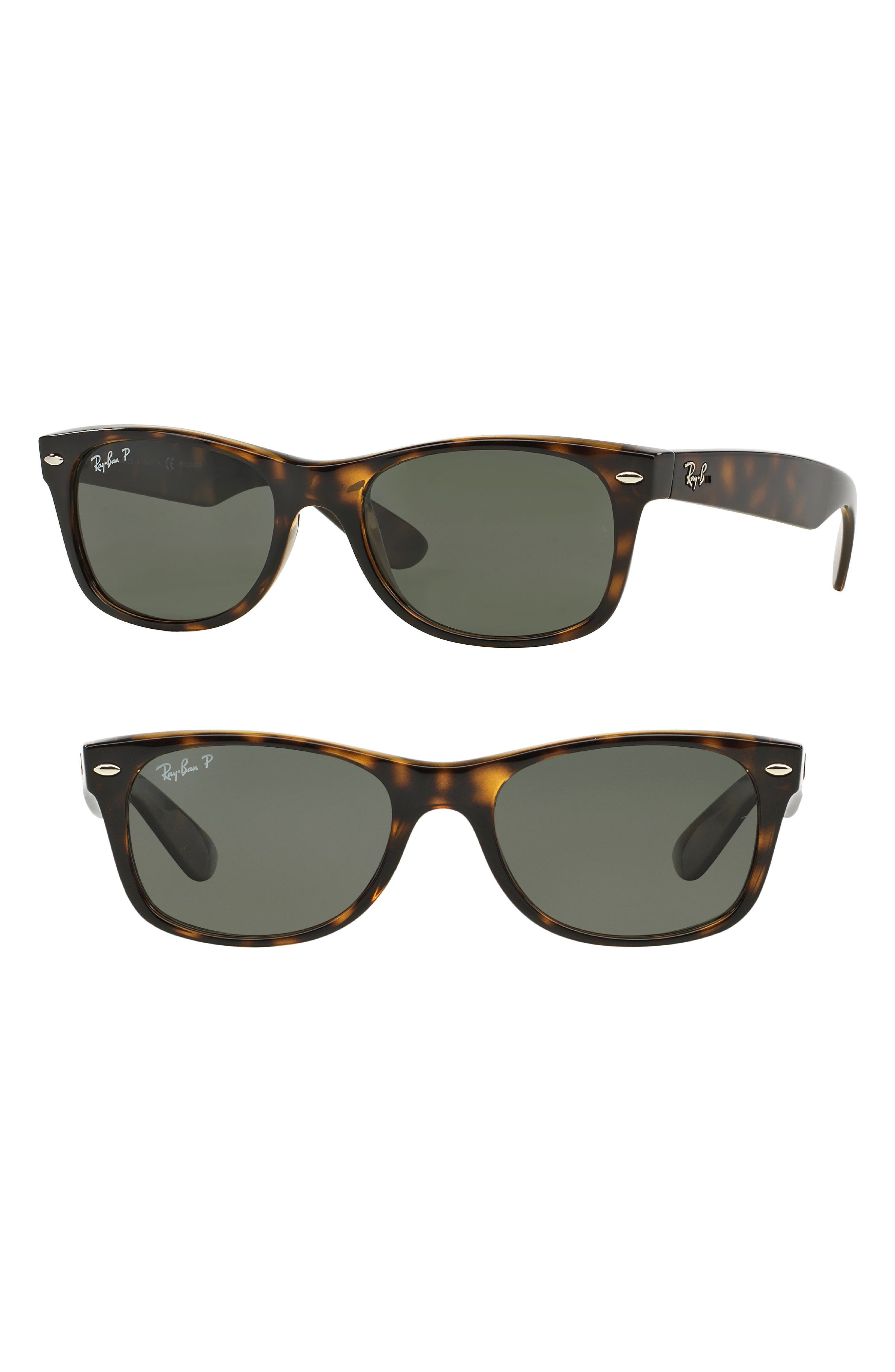 Small New Wayfarer 52mm Polarized Sunglasses,                             Main thumbnail 1, color,                             TORTOISE