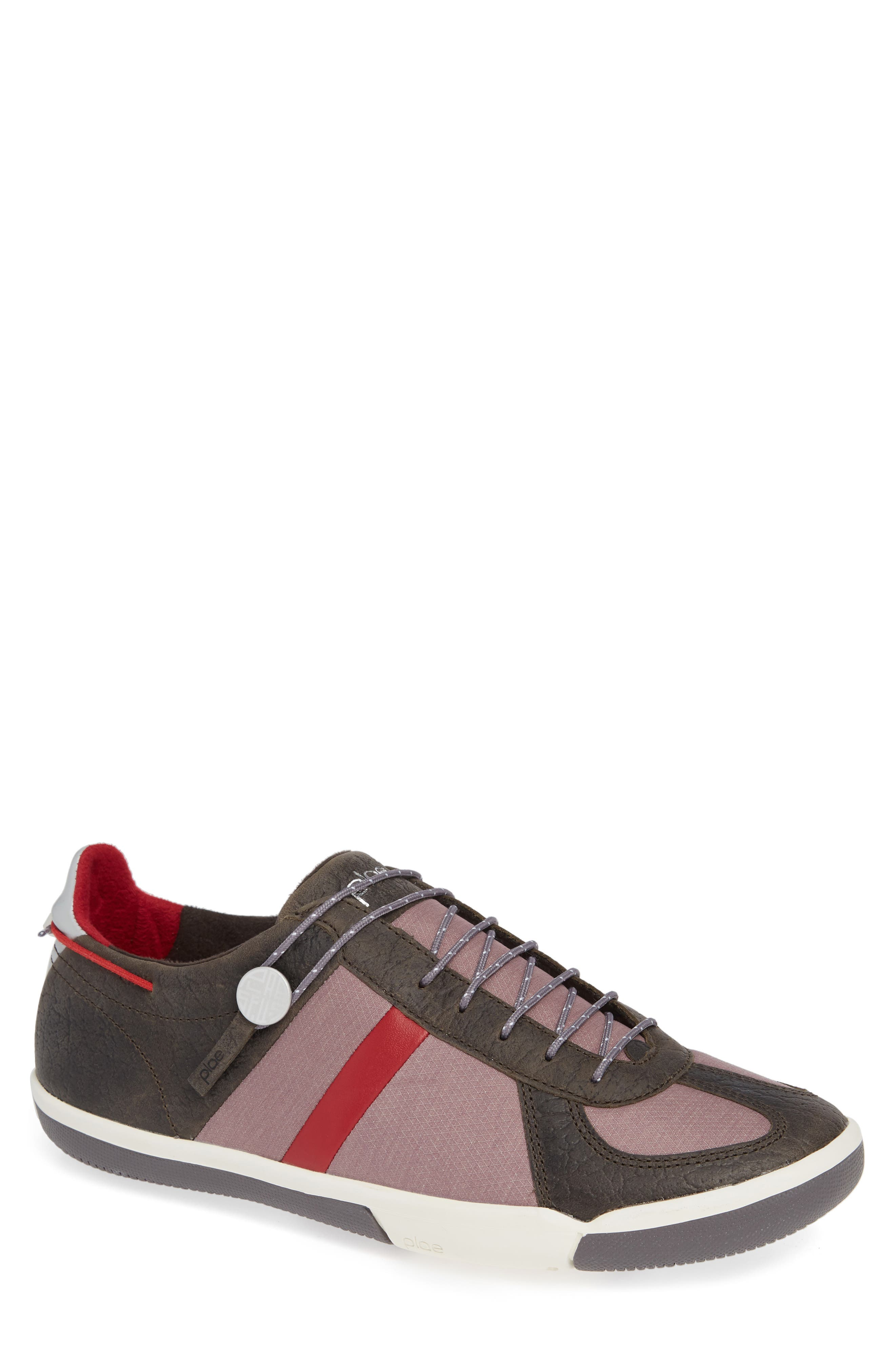 Butler Low-Top Sneaker,                             Main thumbnail 1, color,                             EMBER BROWN LEATHER