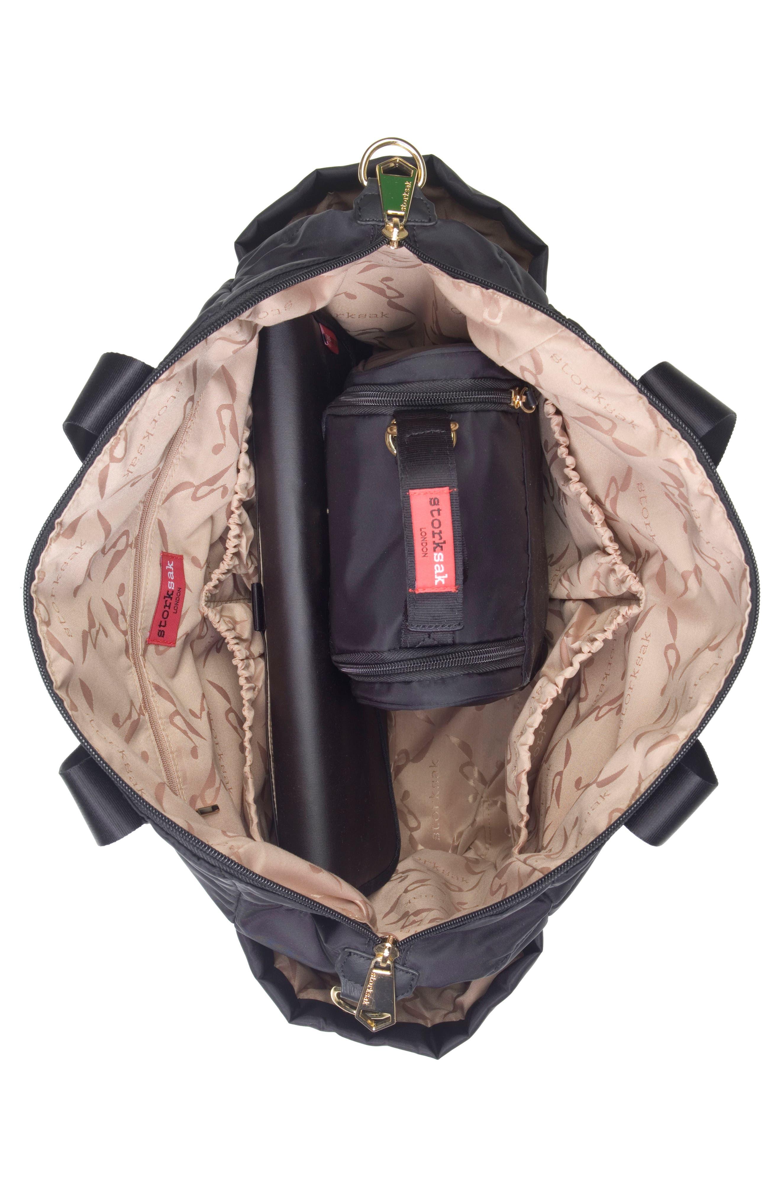 'Sandy' Diaper Bag,                             Alternate thumbnail 3, color,                             BLACK