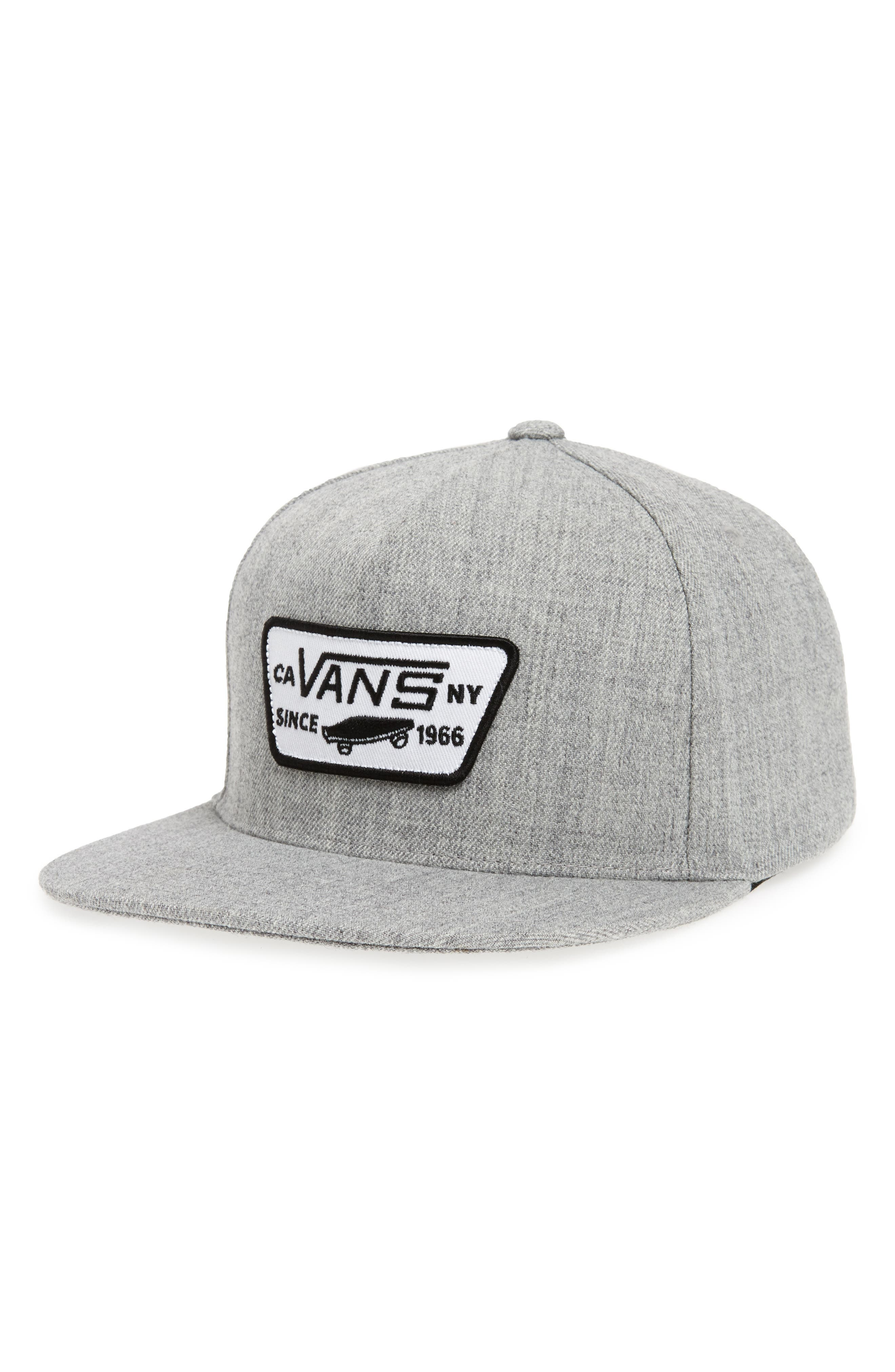 'Full Patch' Snapback Hat,                         Main,                         color, HEATHER GREY