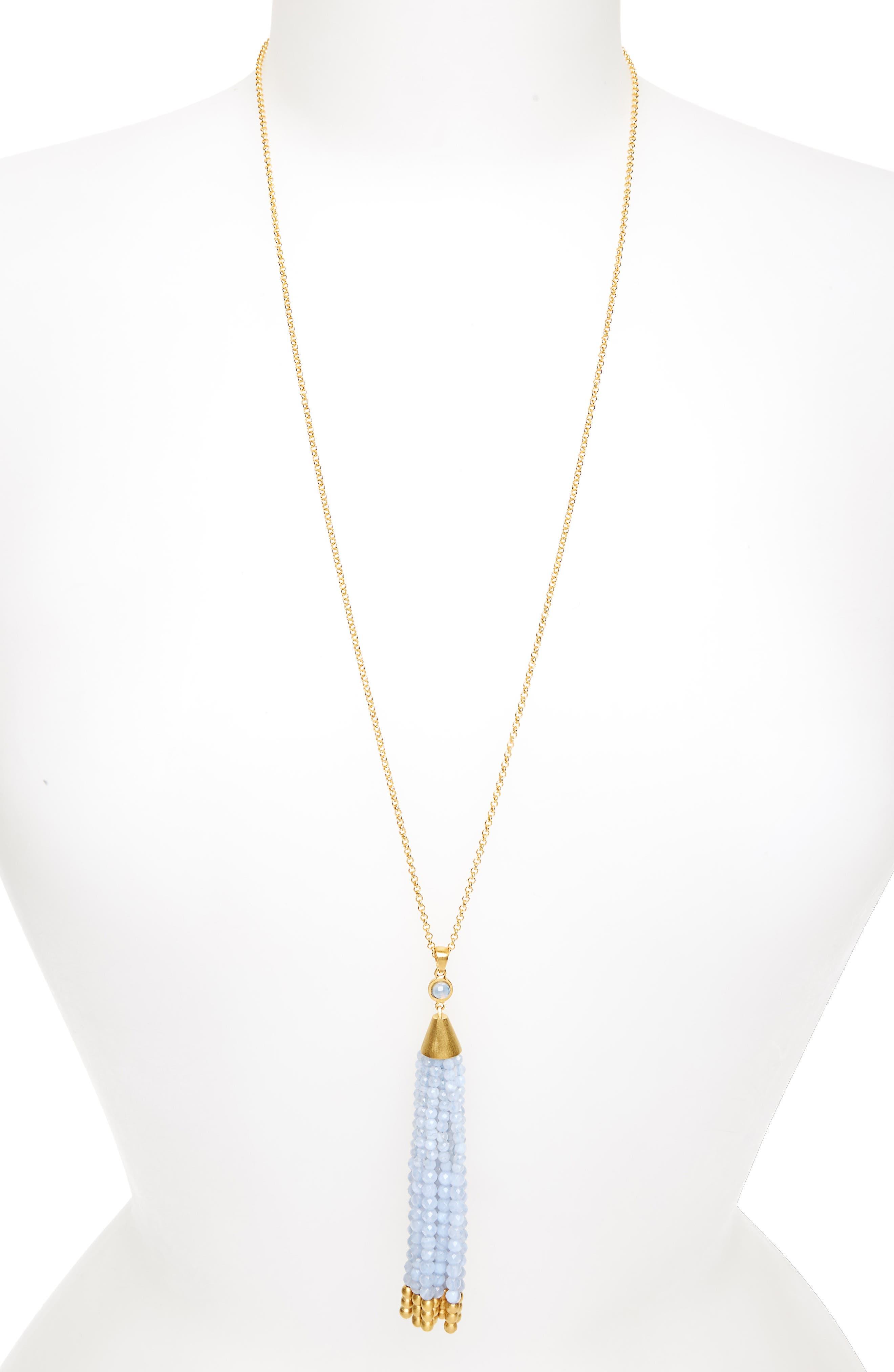 Samba Tassel Pendant Necklace,                         Main,                         color, 405