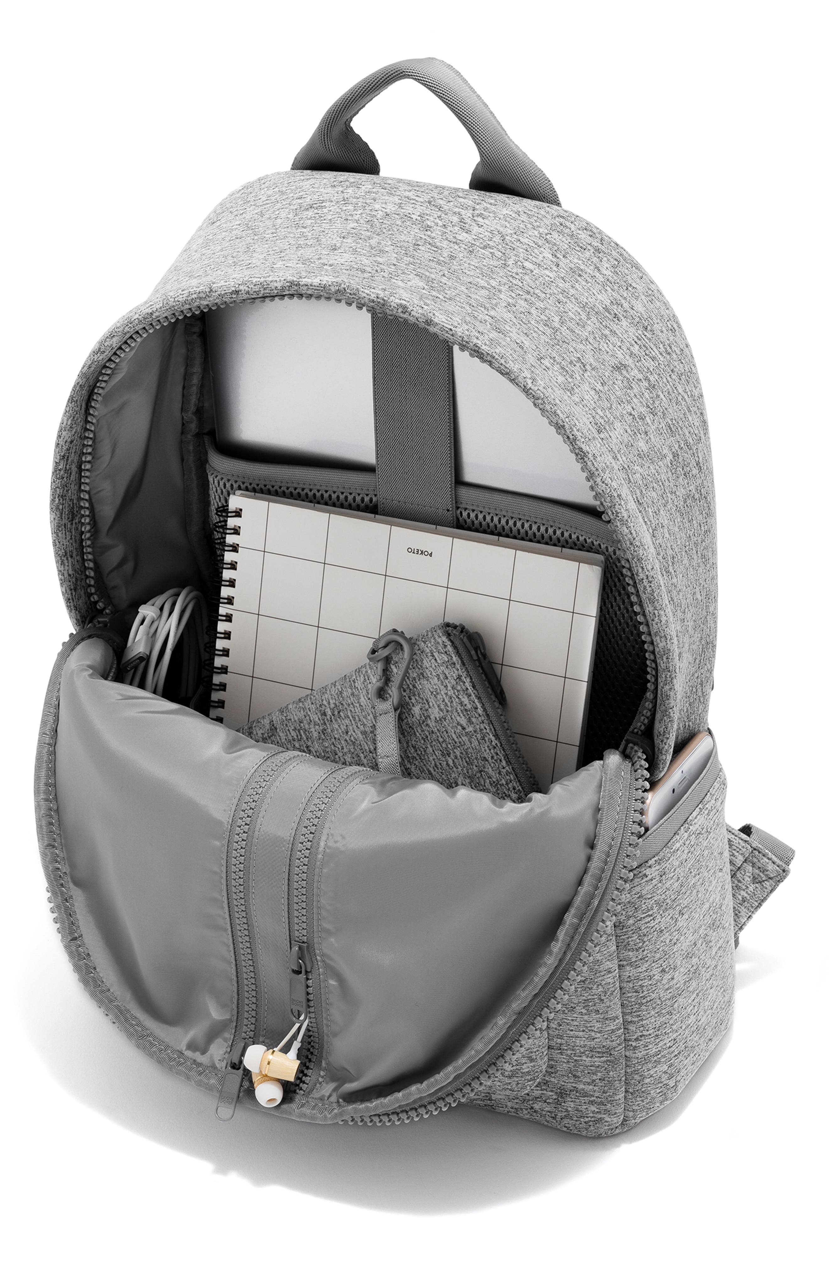 365 Dakota Neoprene Backpack,                             Alternate thumbnail 3, color,                             HEATHER GREY