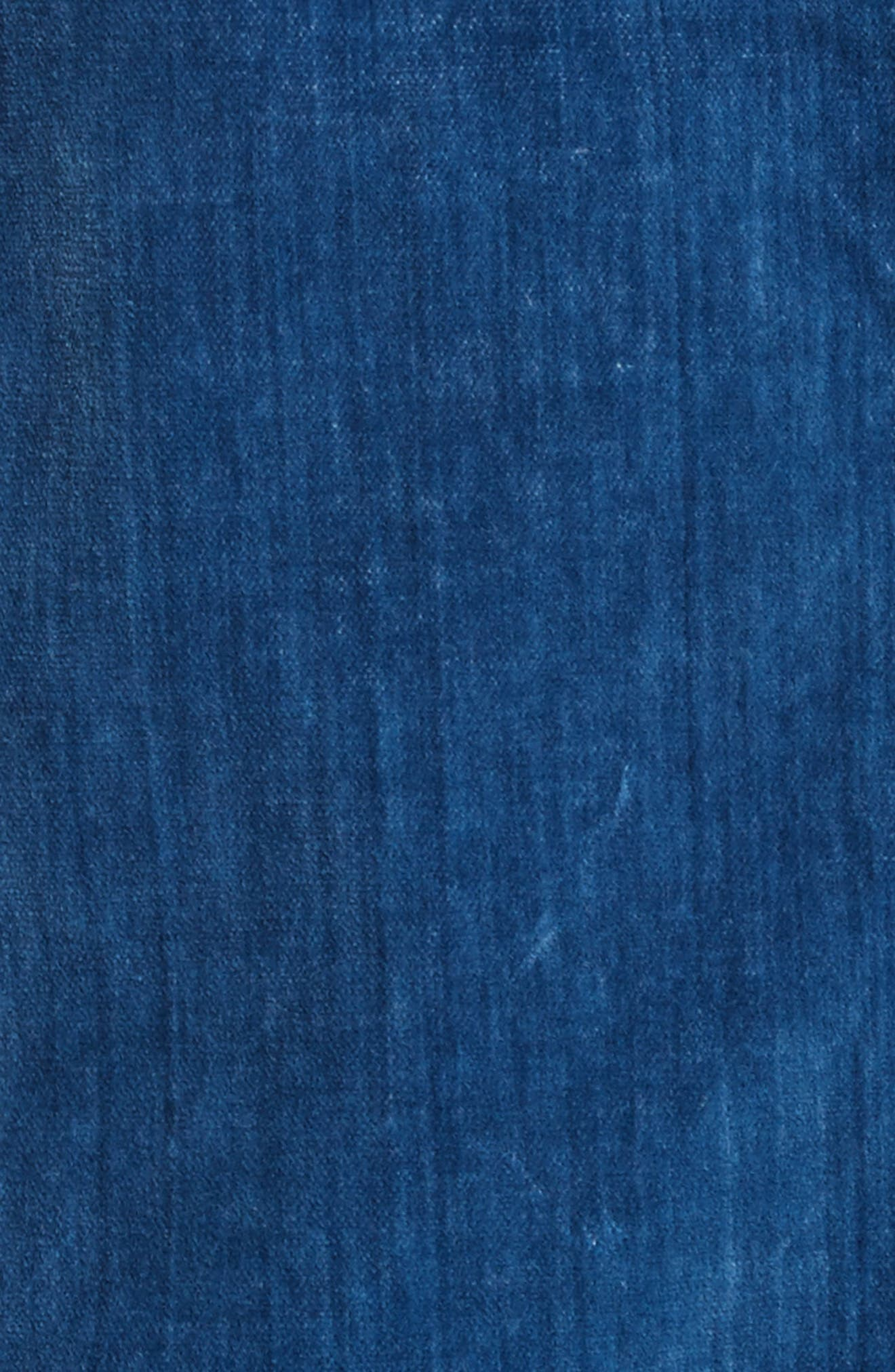 LA VIE REBECCA TAYLOR,                             Velvet Denim Jacket,                             Alternate thumbnail 6, color,                             493