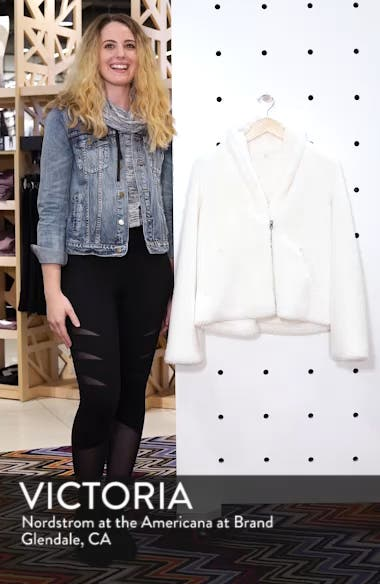 Cozy Up Faux Fur Crop Jacket, sales video thumbnail