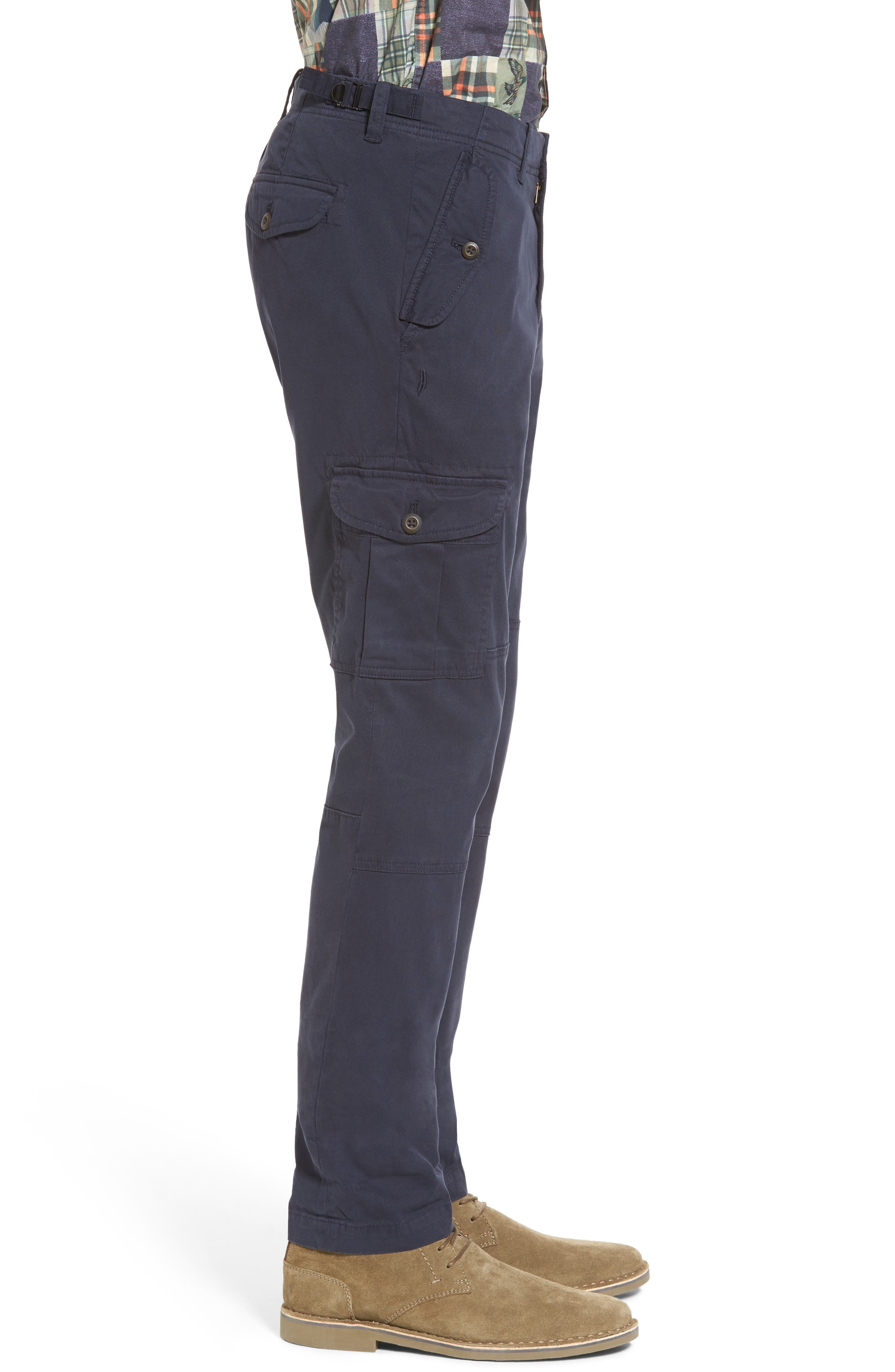 Stretch Twill Cargo Pants,                             Alternate thumbnail 9, color,
