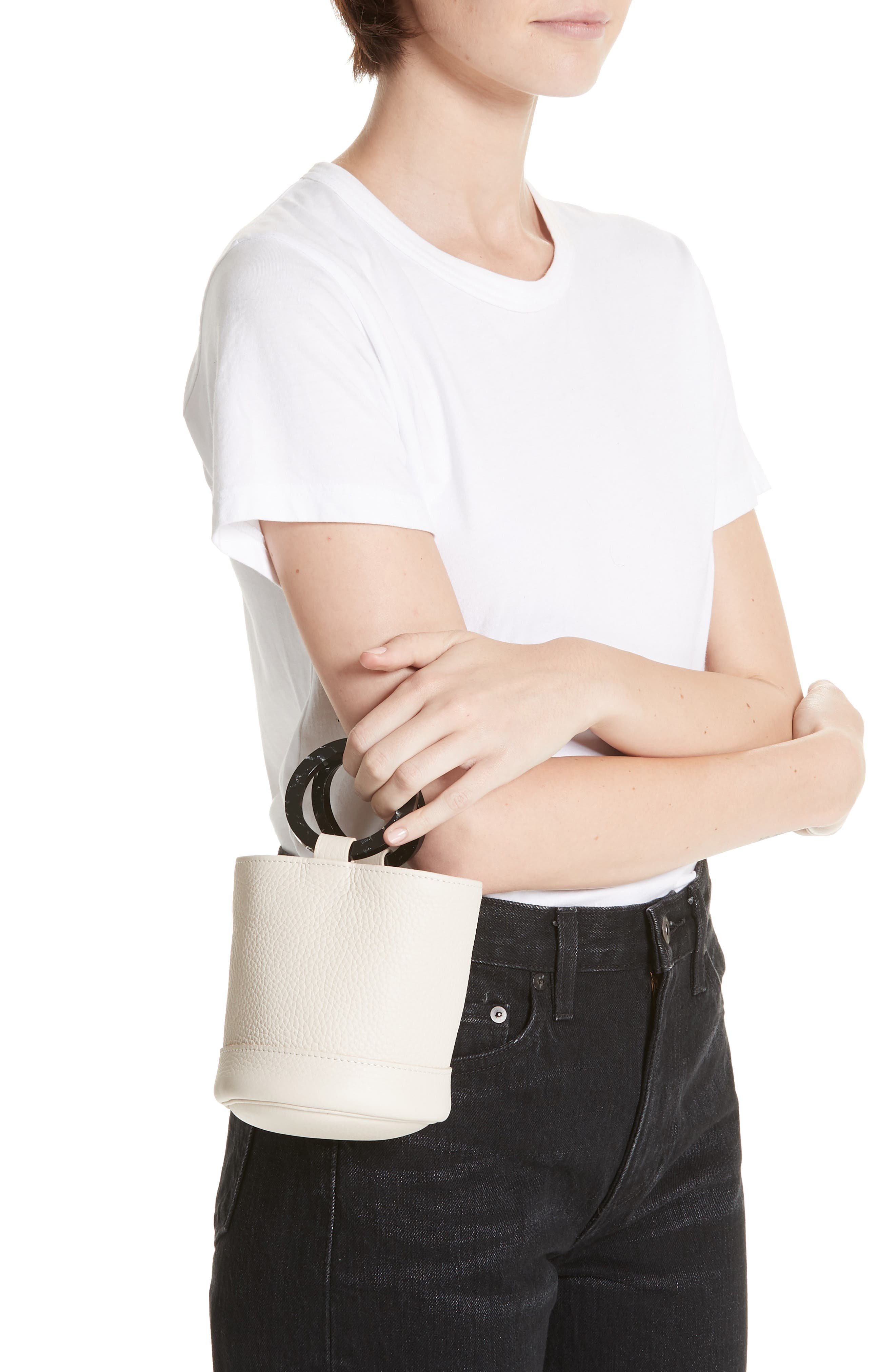 Bonsai 15 Calfskin Leather Bucket Bag,                             Alternate thumbnail 2, color,                             CLIFF
