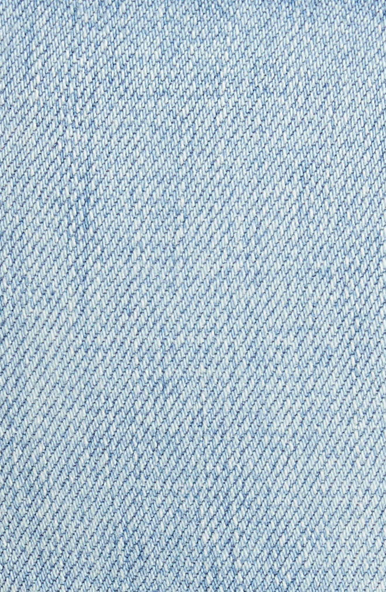 Marcelle Foil Crop Skinny Jeans,                             Alternate thumbnail 5, color,                             451