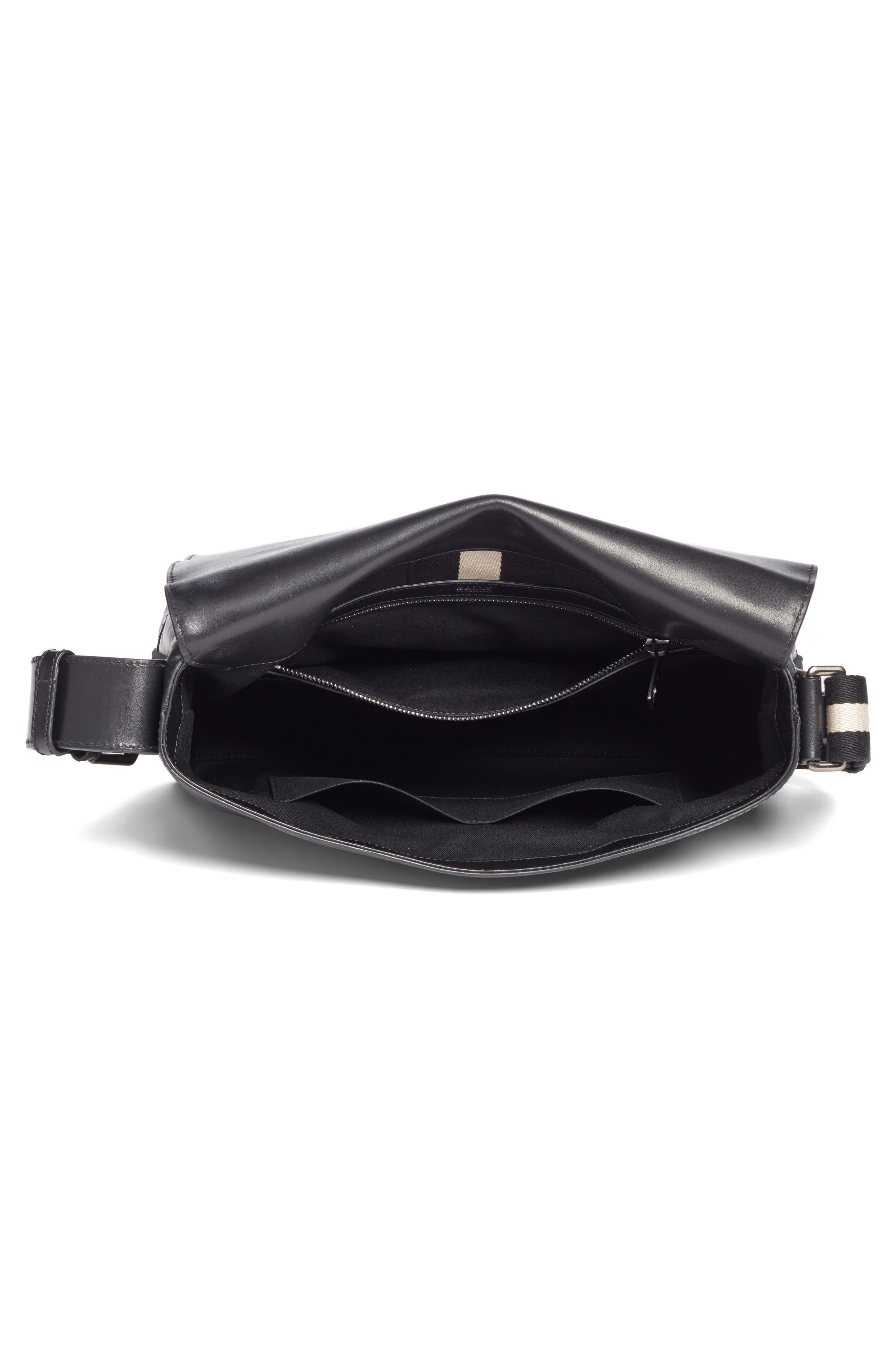 Tamrac Leather Messenger Bag,                             Alternate thumbnail 4, color,                             001
