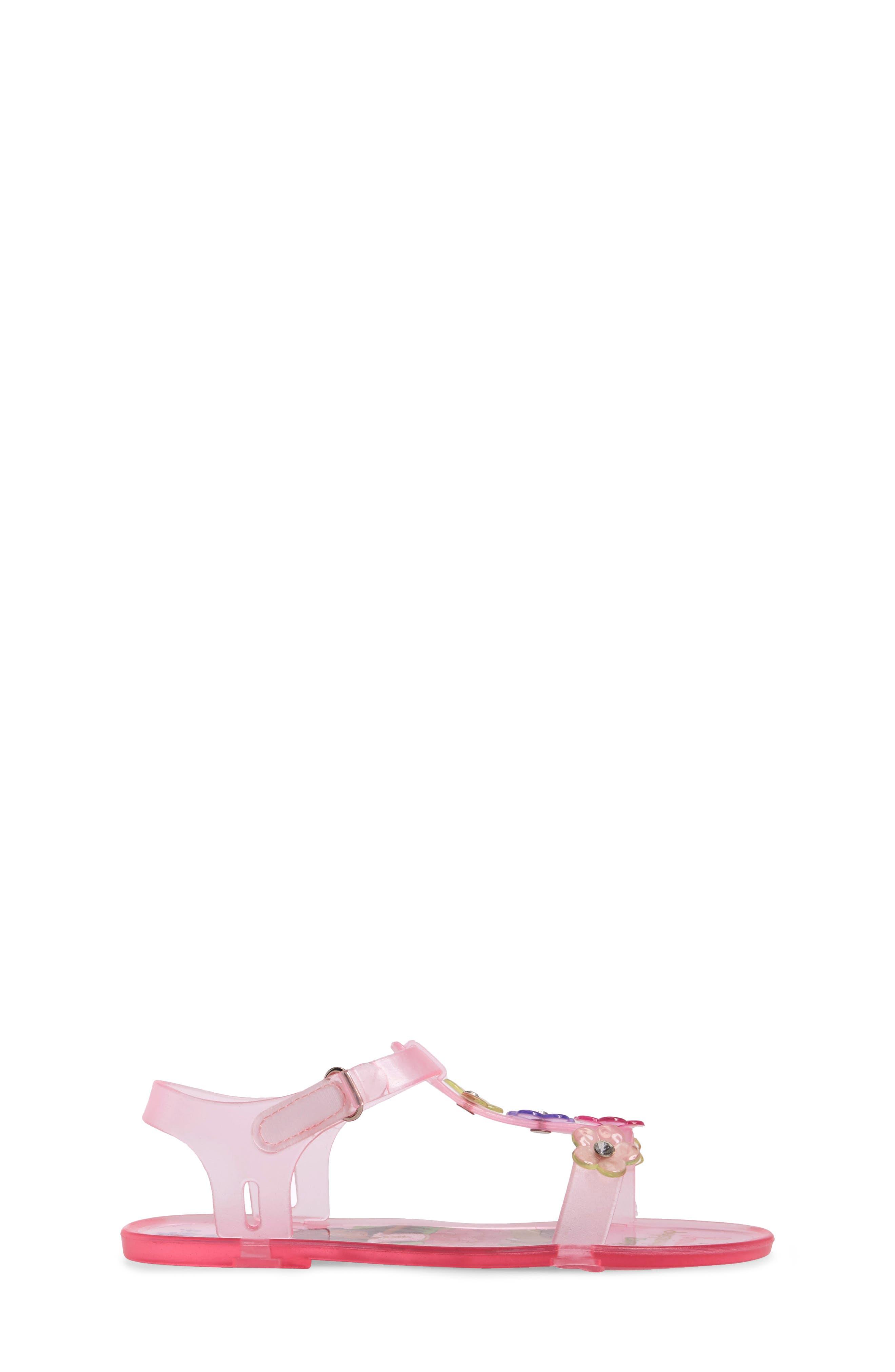 Ashlyn Flower Jelly Sandal,                             Alternate thumbnail 3, color,                             652