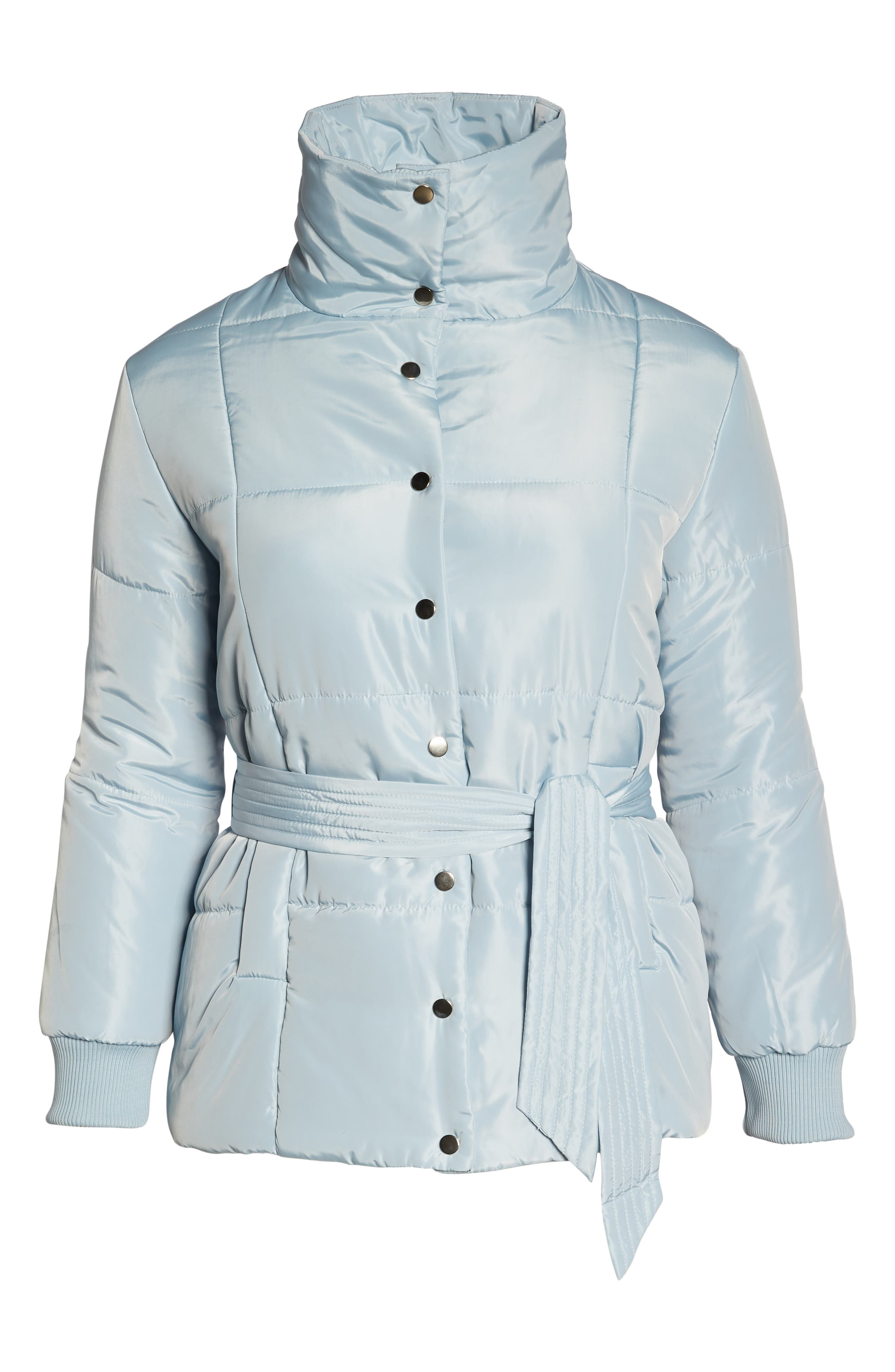 Belted Quilted Jacket,                             Alternate thumbnail 6, color,                             BLUE